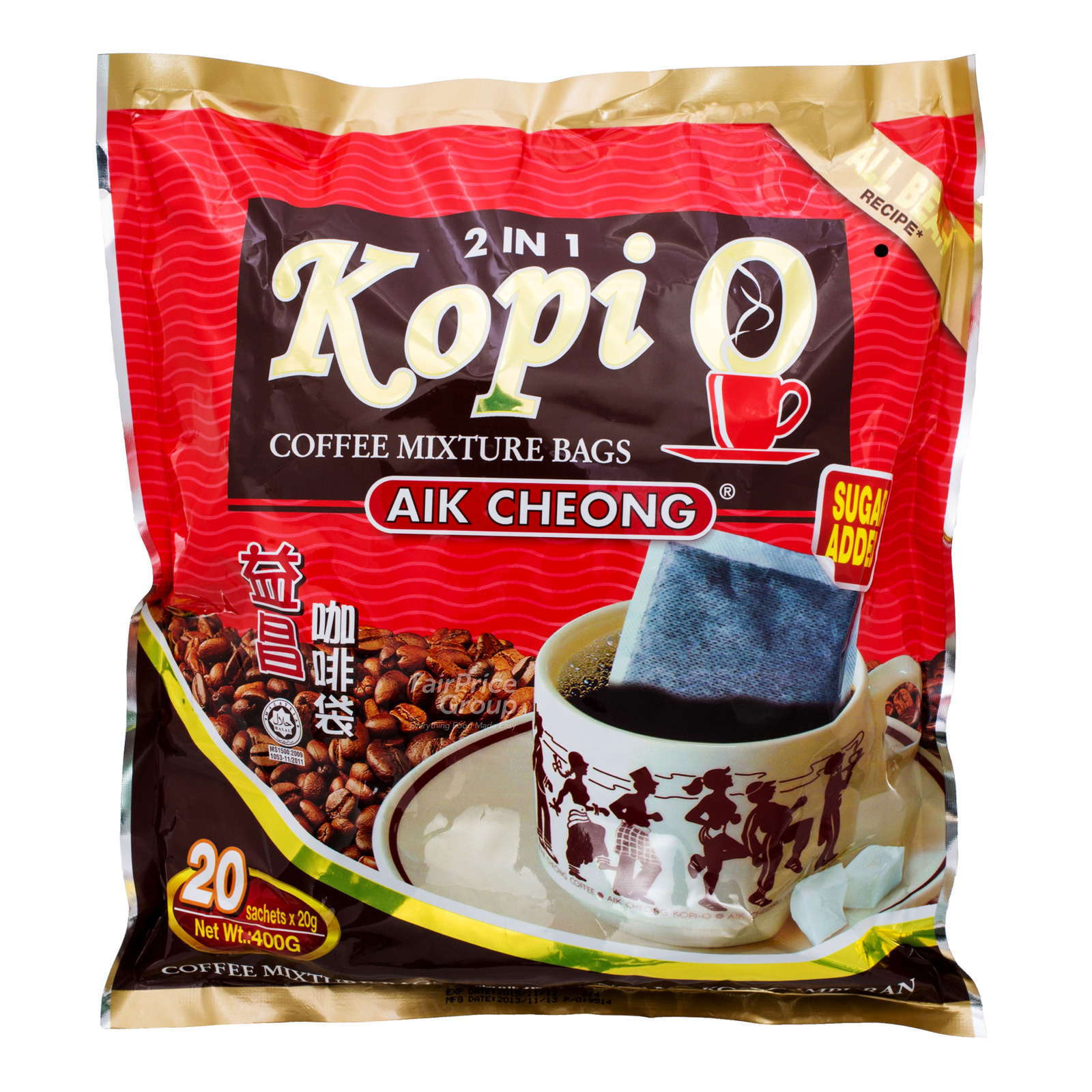 Gold Kili 2-In-1 Kopi O Premium Coffee Mixture Bag With Sugar Added