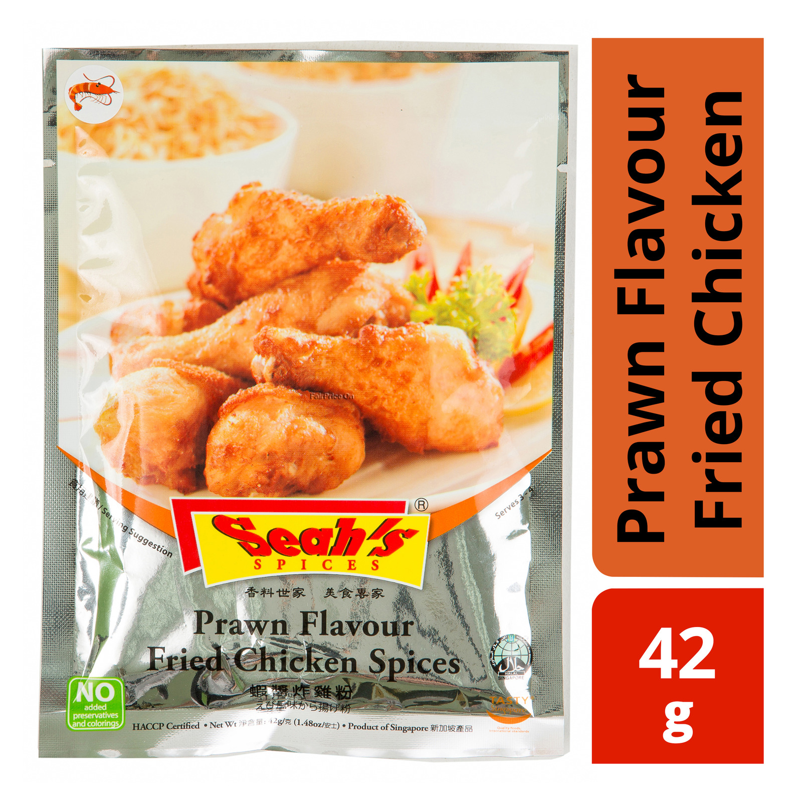 Seah's Spices Sachet - Prawn Flavour Fried Chicken
