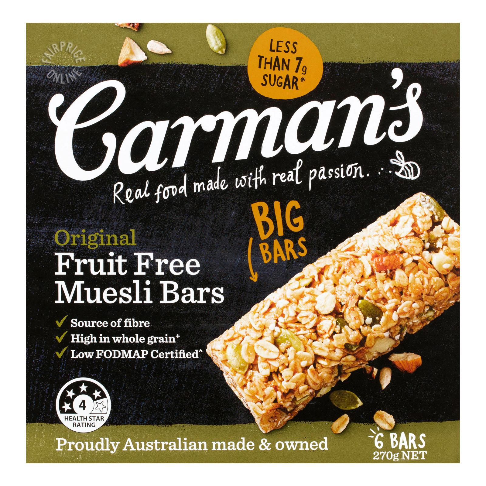 Carman's Muesli Bars - Original (Fruit Free)