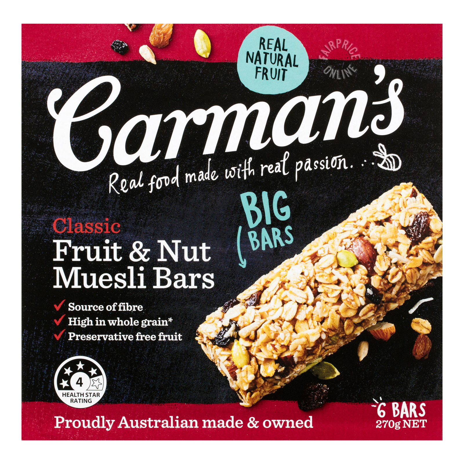 Carman's Muesli Bars - Classic (Fruit & Nut)