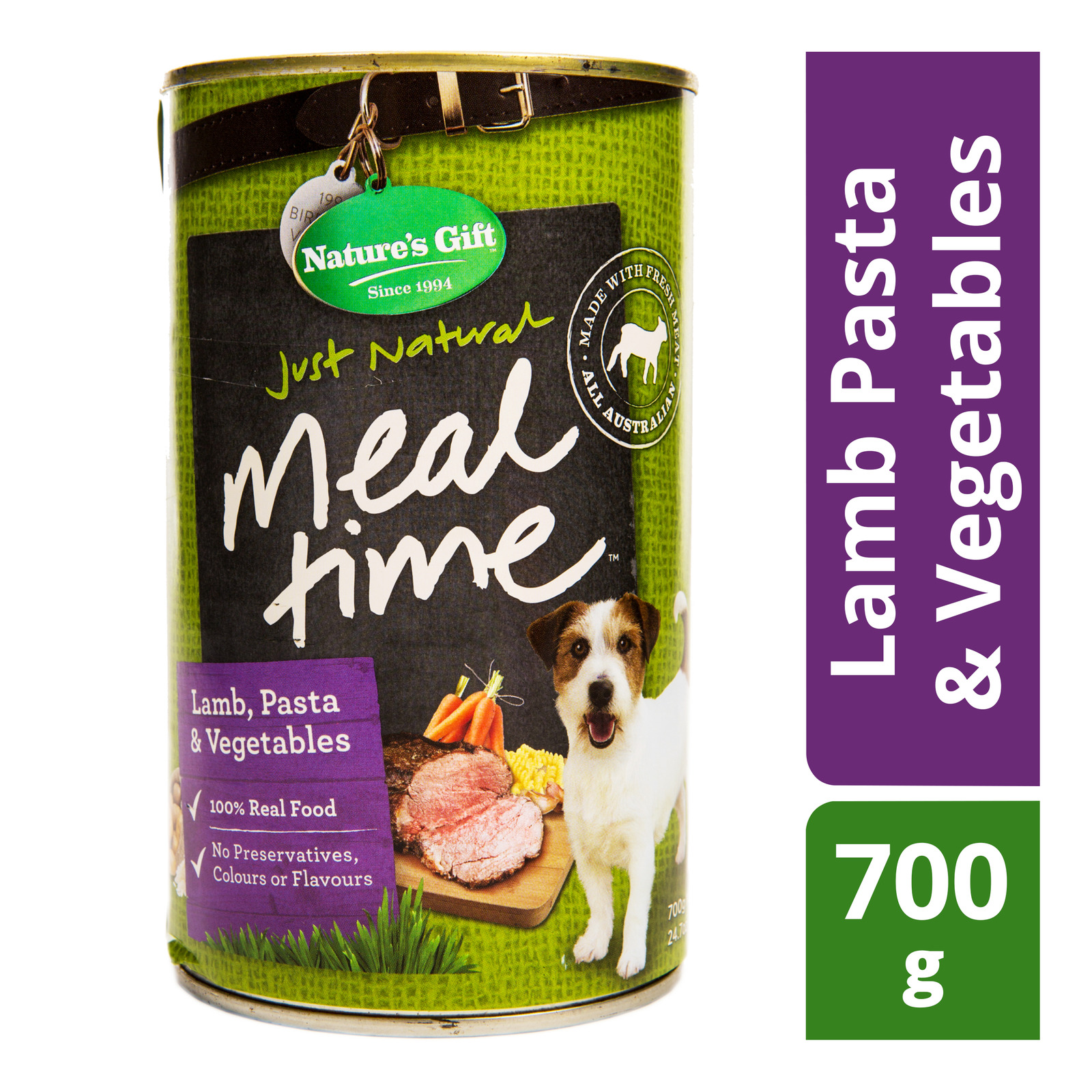 Nature's Gift Meal Time Dog Can Food - Lamb Pasta & Vegetables