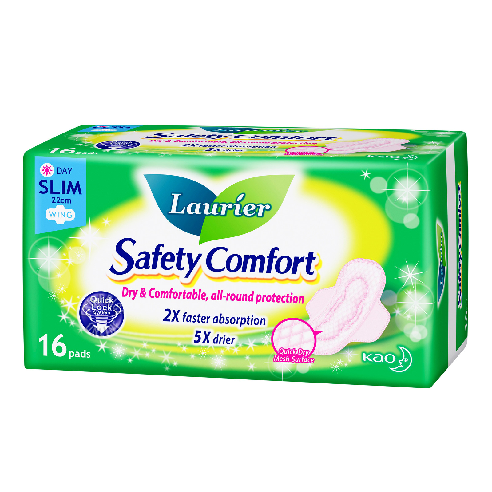 Laurier Safety Comfort Day Pads - Slim Wing (22cm)