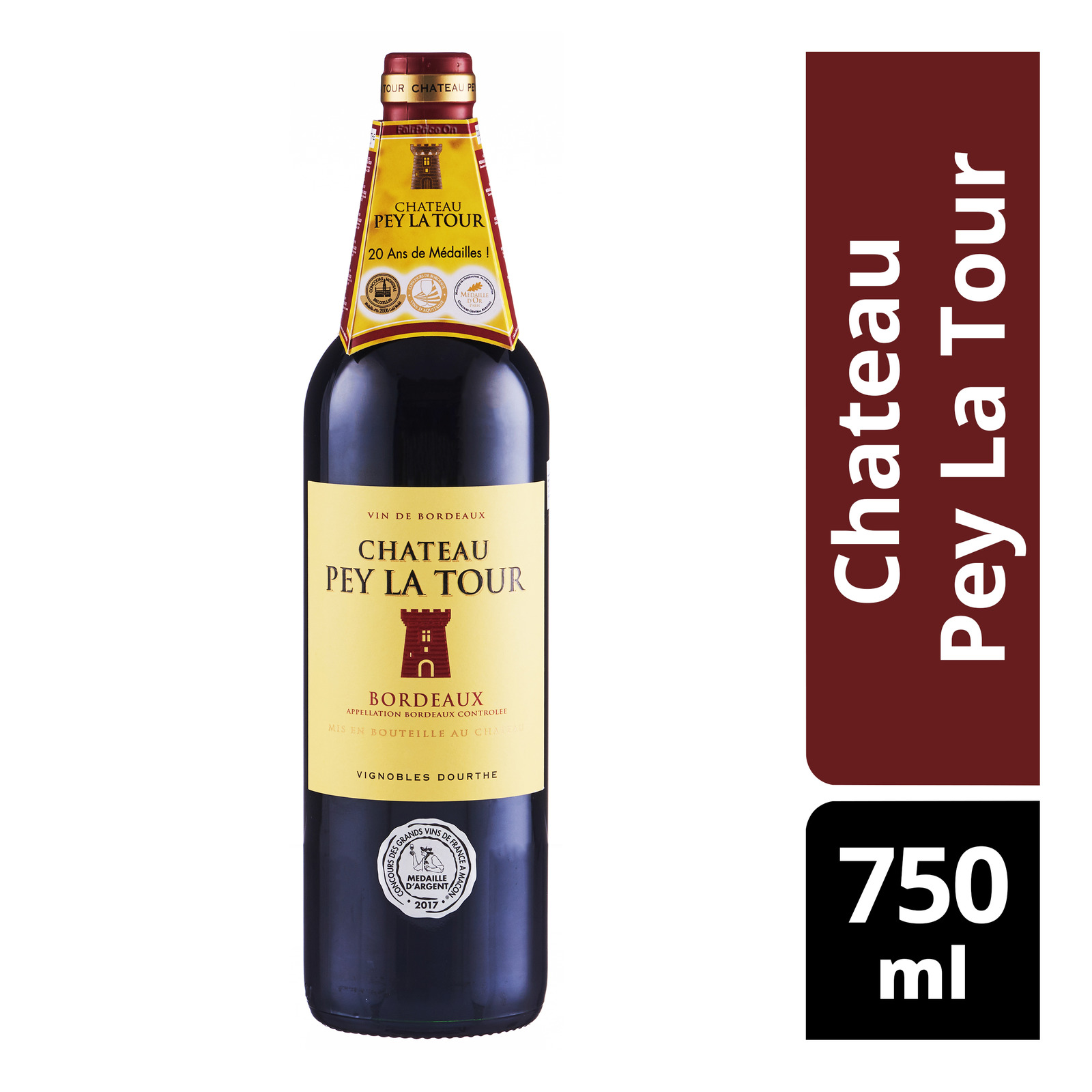 Vin De Bordeaux Red Wine - Chateau Pey La Tour