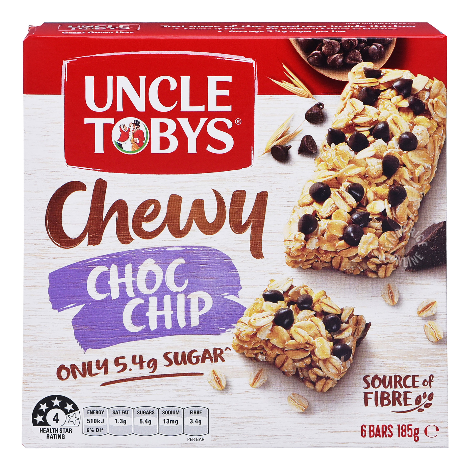Uncle Tobys Wholegrain Muesli Bars - Chocolate Chip
