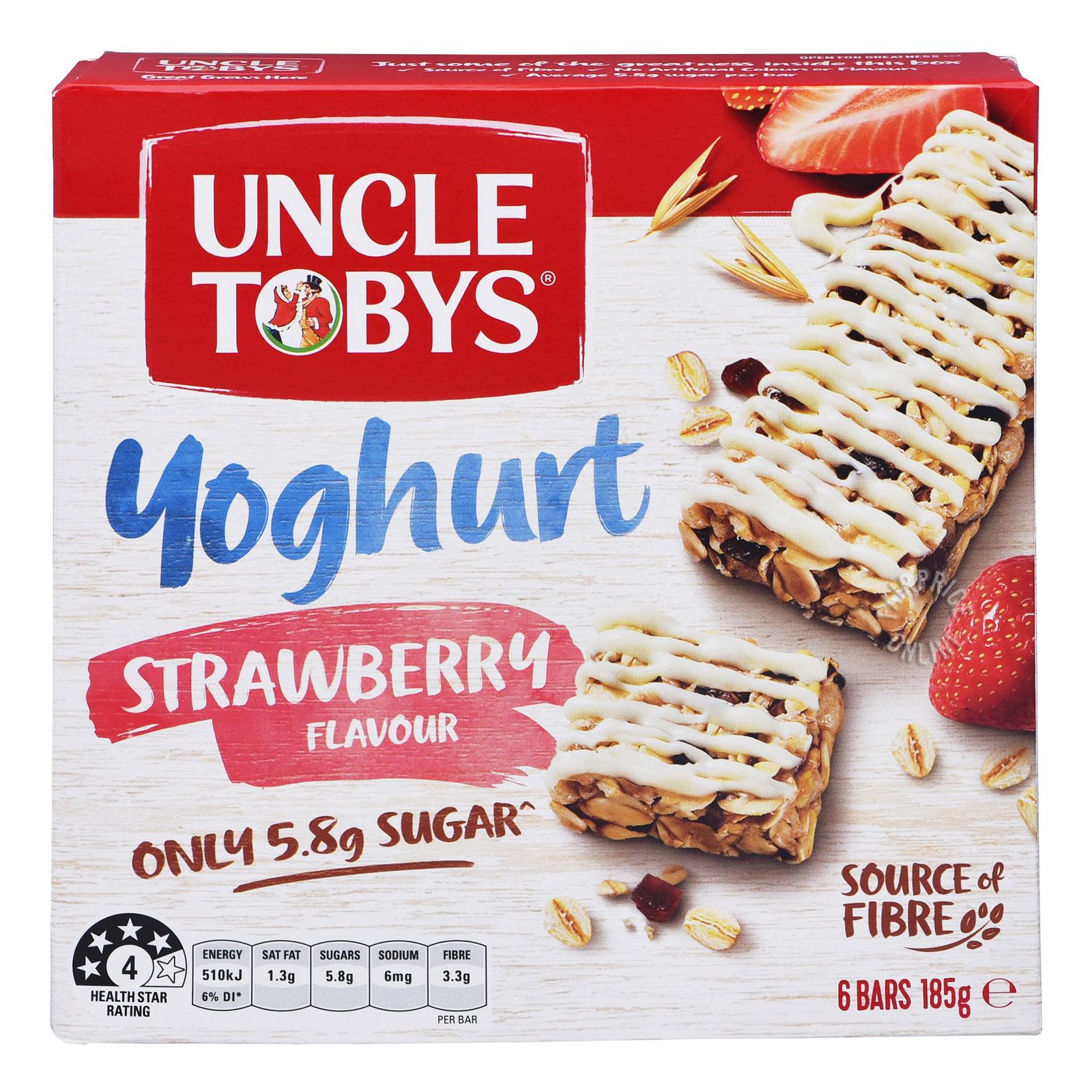 Uncle Tobys Wholegrain Yoghurt Muesli Bars - Strawberry