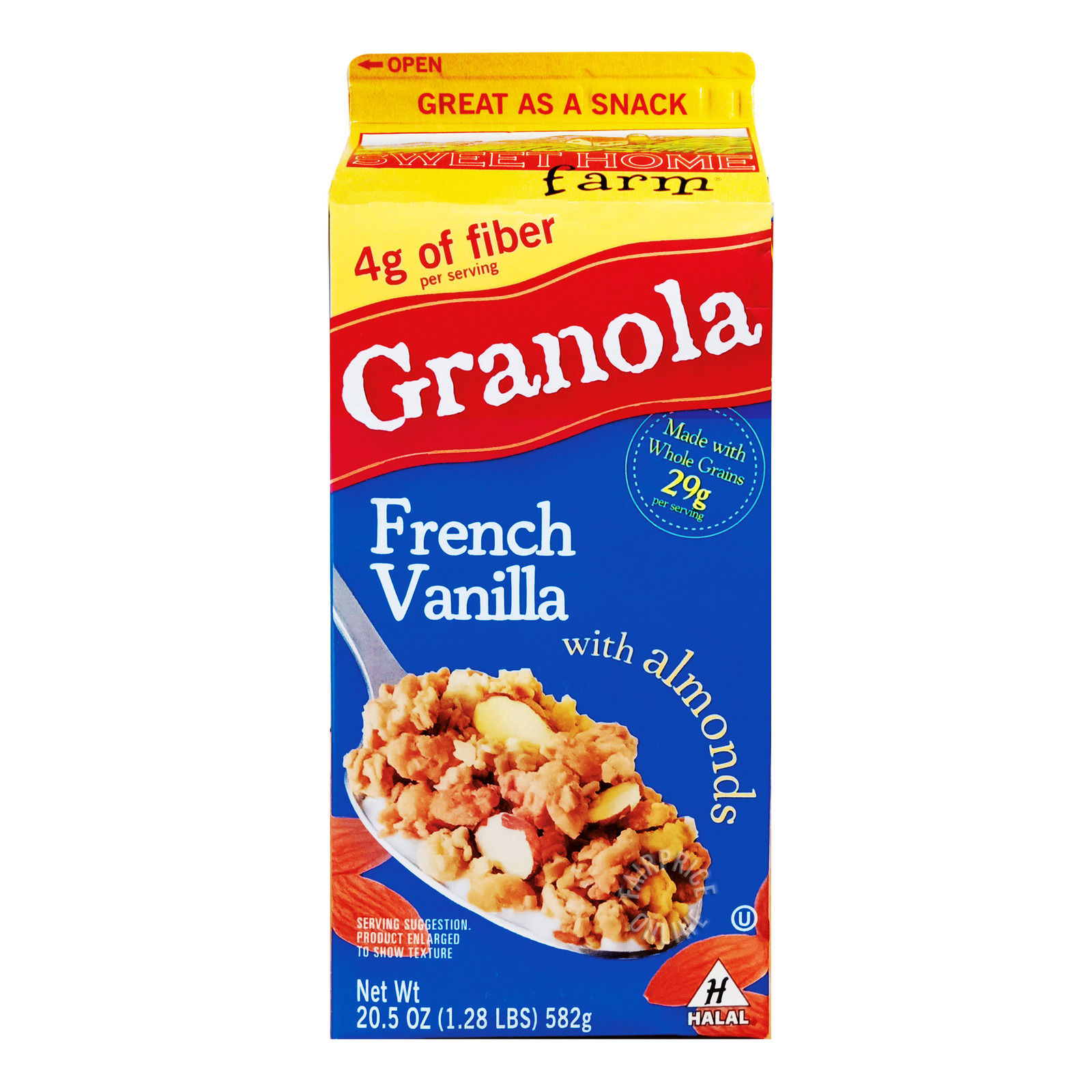 Sweet Home Farm Granola - French Vanilla with Almonds