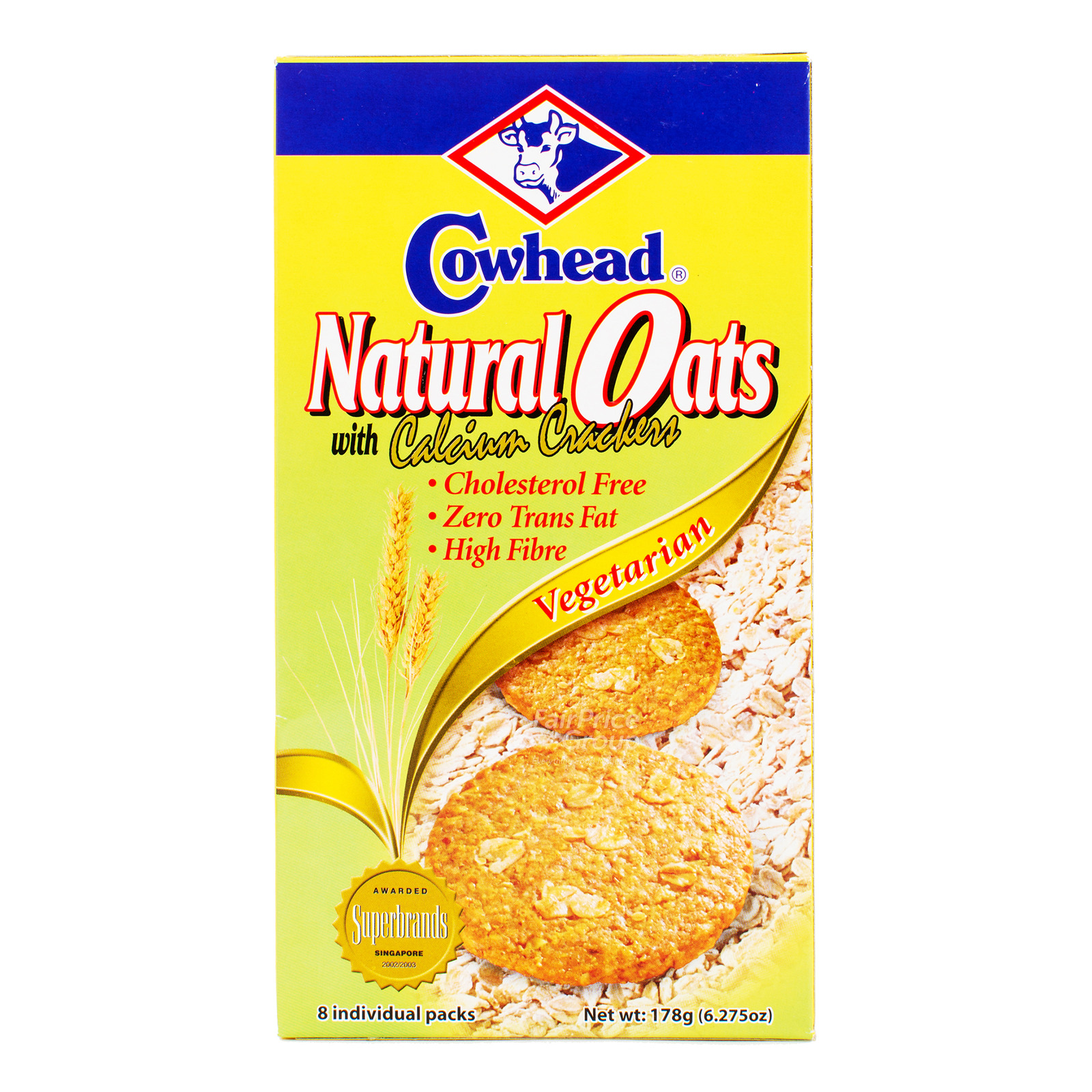 Cowhead Crackers - Natural Oats with Calcium