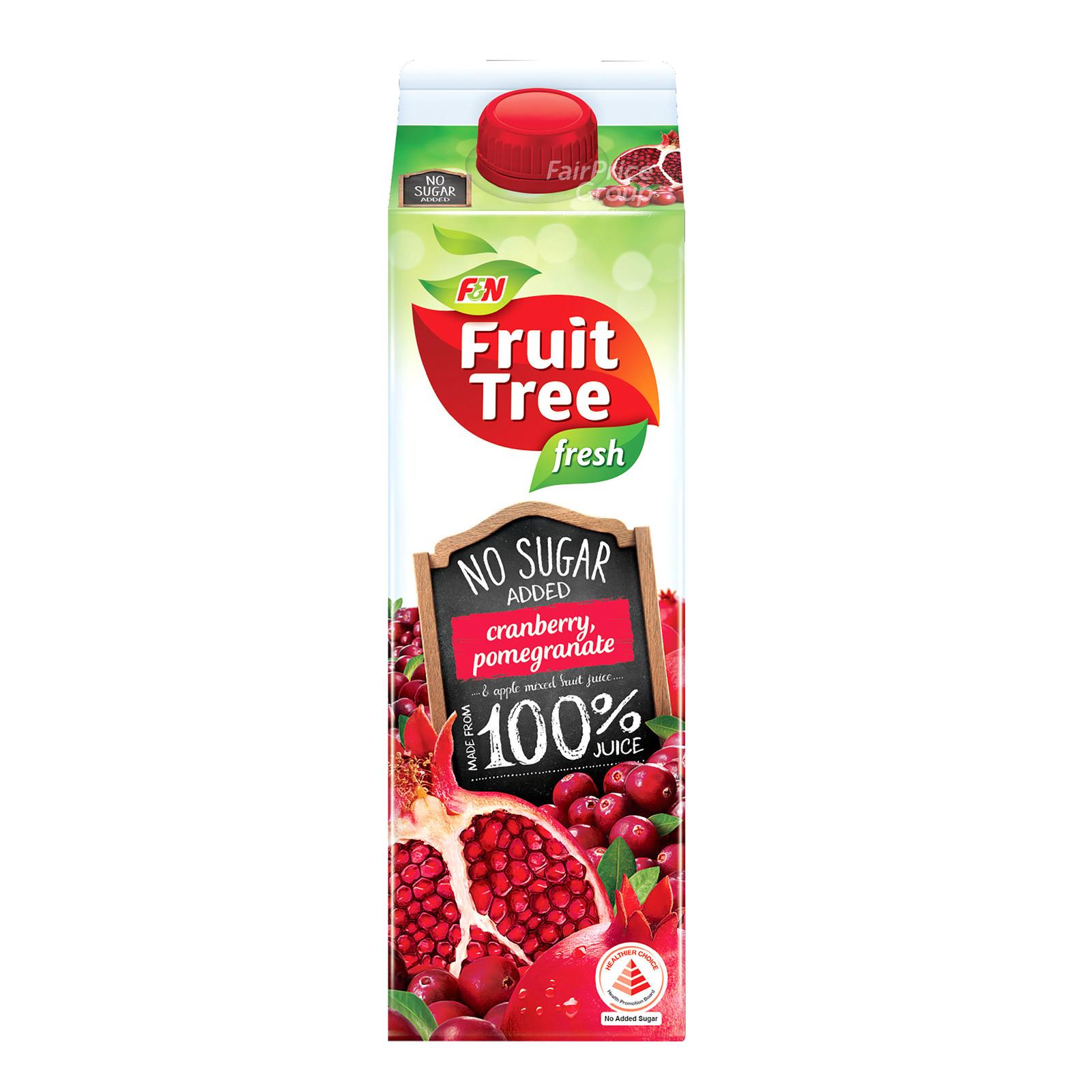 F&N Fruit Tree Fresh No Sugar Added Juice - Cranberry&Pomegranate