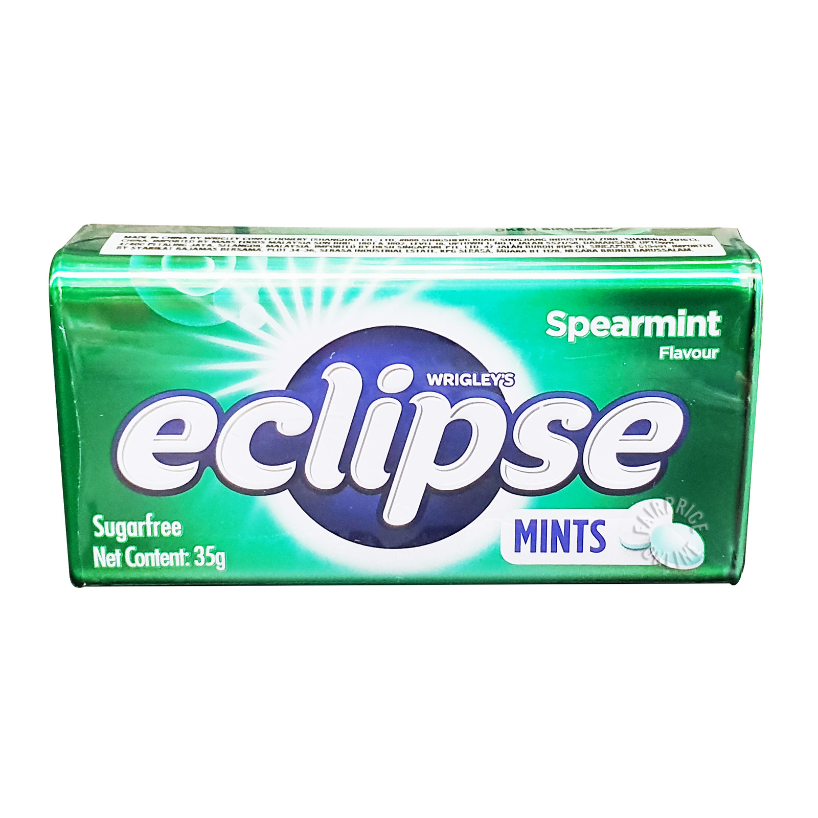 Wrigley's Eclipse Sugar Free Mints Candy - Spearmint