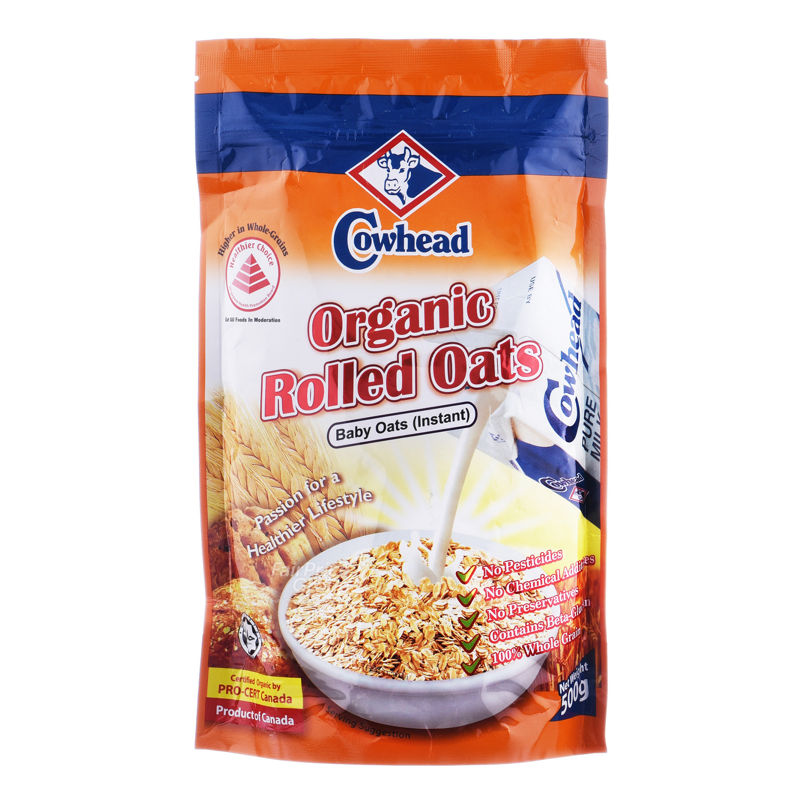 Cowhead Organic Rolled Oats - Instant