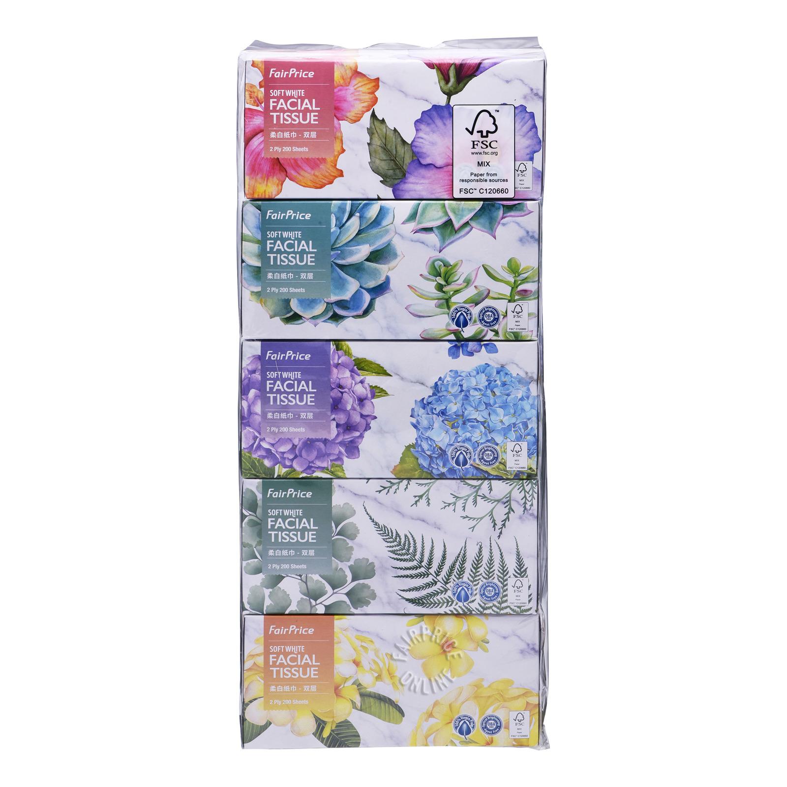 FairPrice Soft White Facial Tissue - Box (2ply)