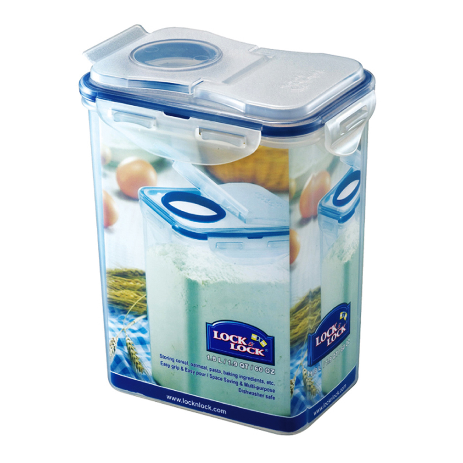 Lock & Lock Stackable Airtight Container - Rectangle with Flip