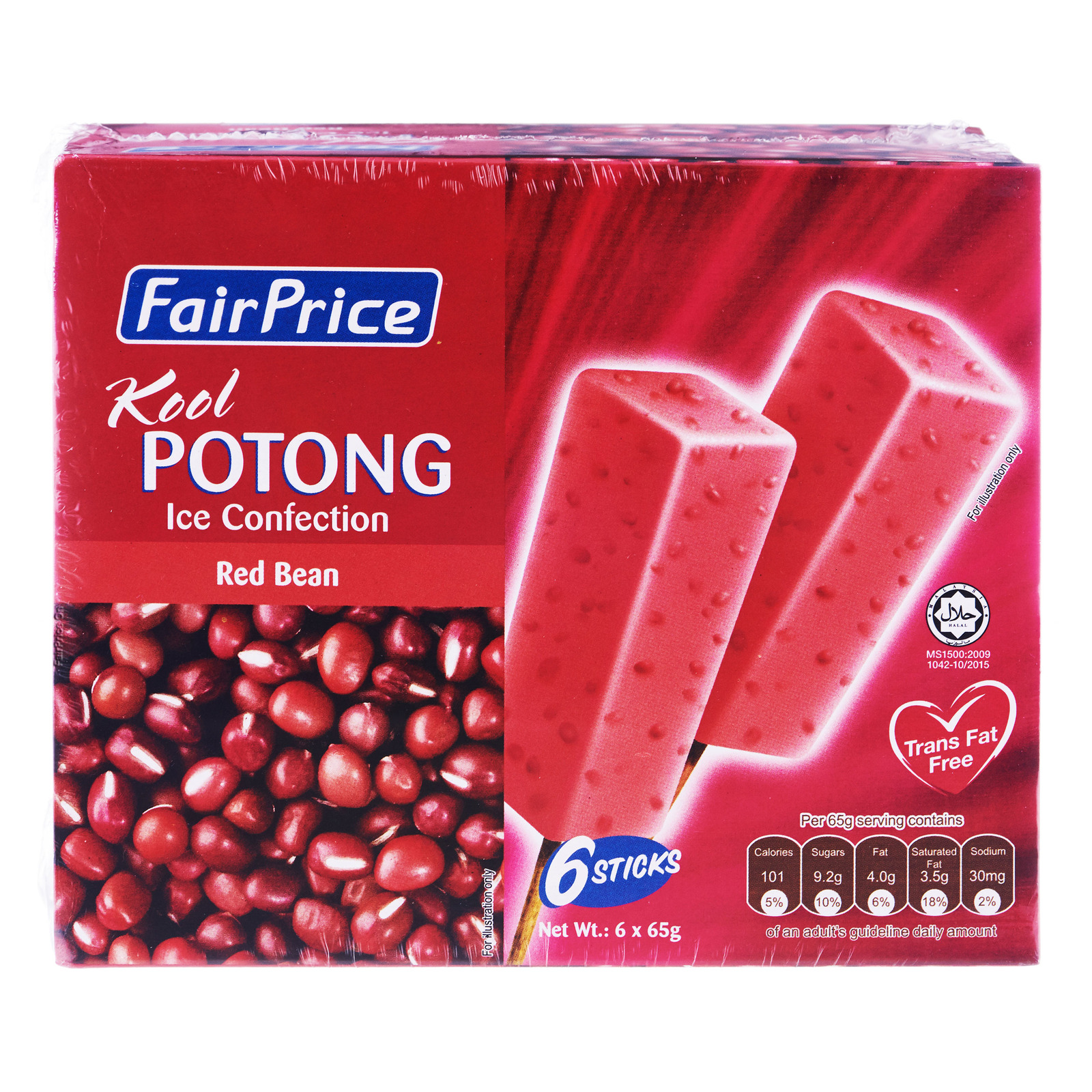 FairPrice Kool Potong Ice Cream - Red Bean