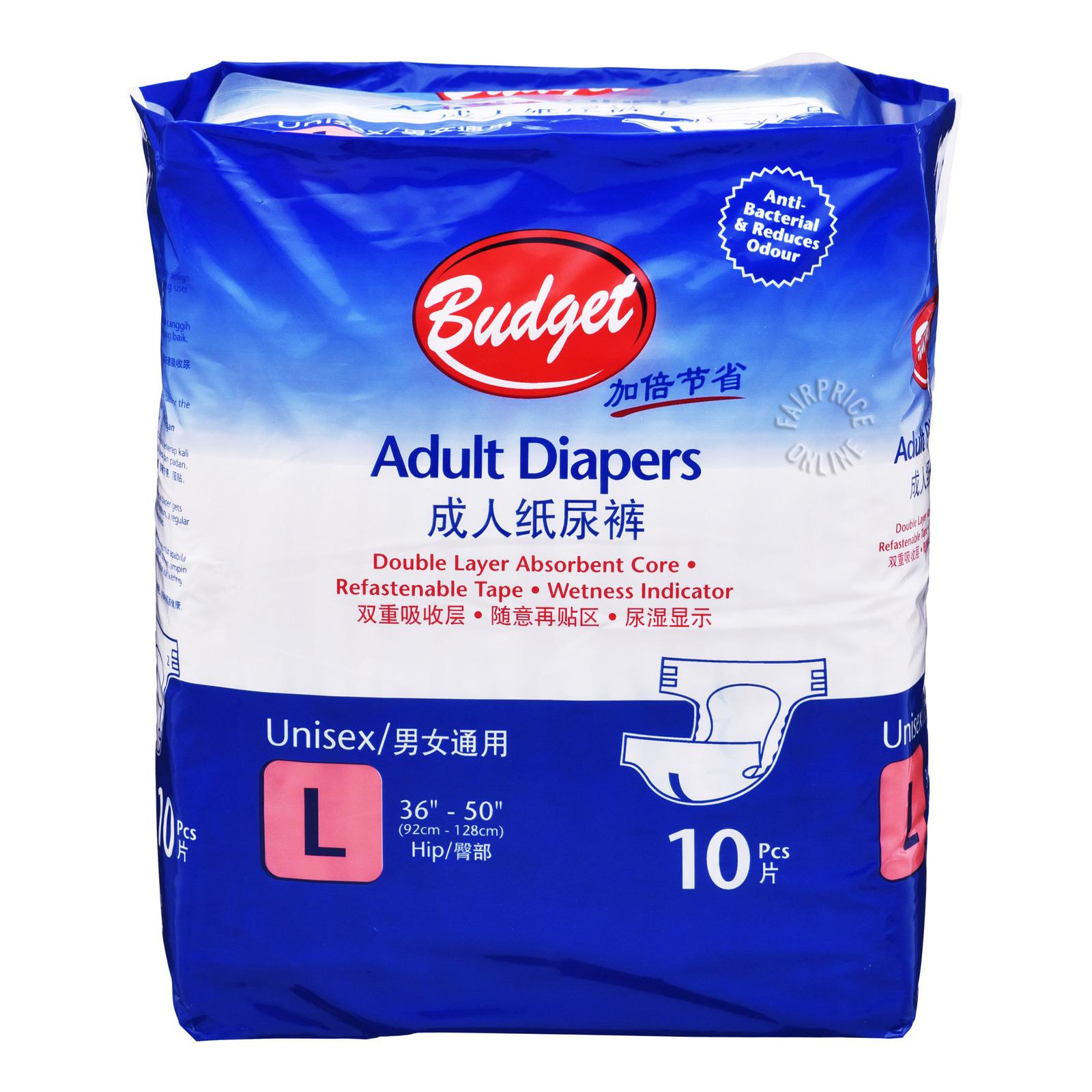 Budget Adult Diaper - L  (91.4 - 127cm)