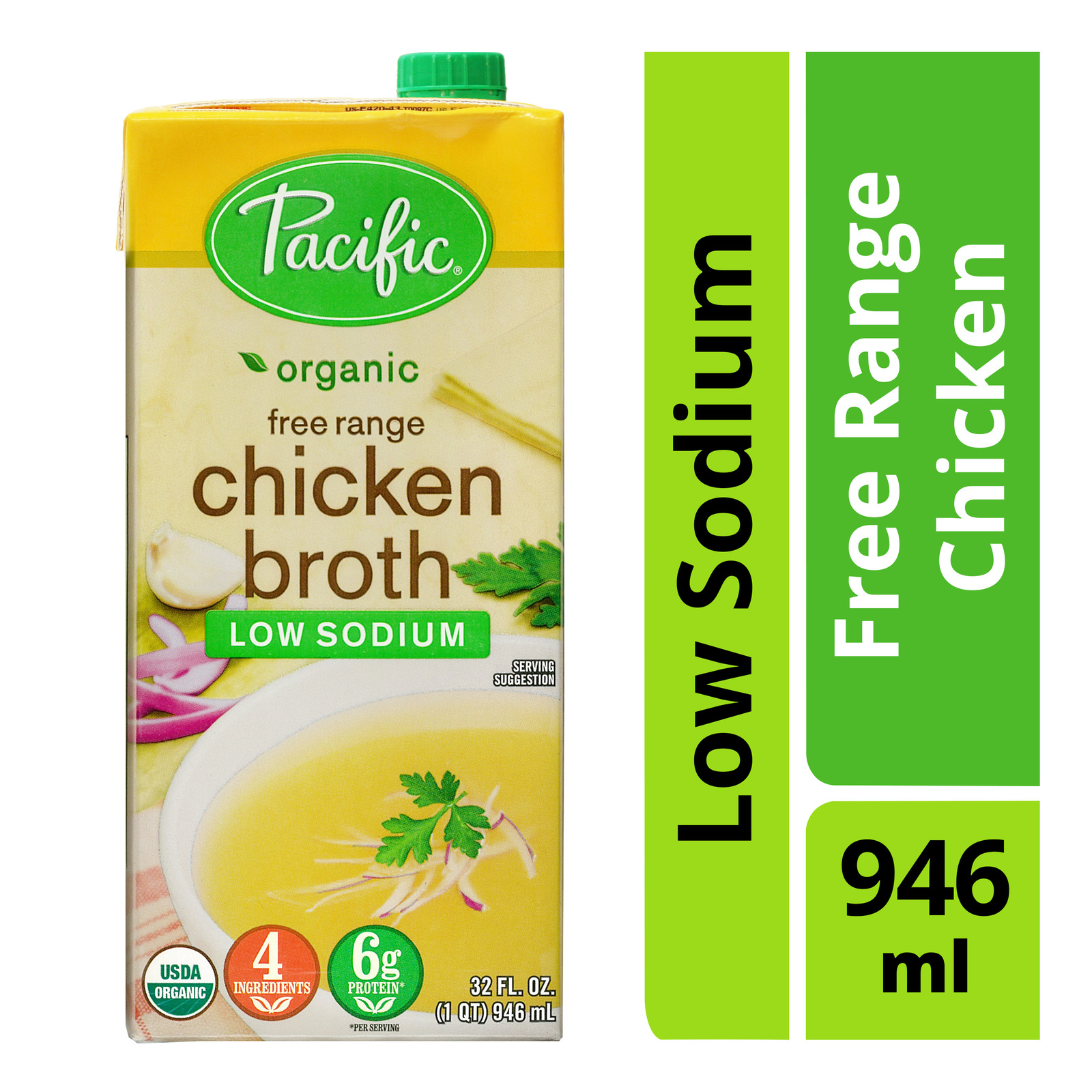 Pacific Organic Broth - Free Range Chicken (Low Sodium)