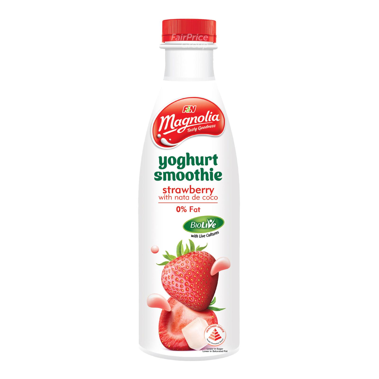 F&N Magnolia Yoghurt Bottle Smoothie - Strawberry & NatadeCoco