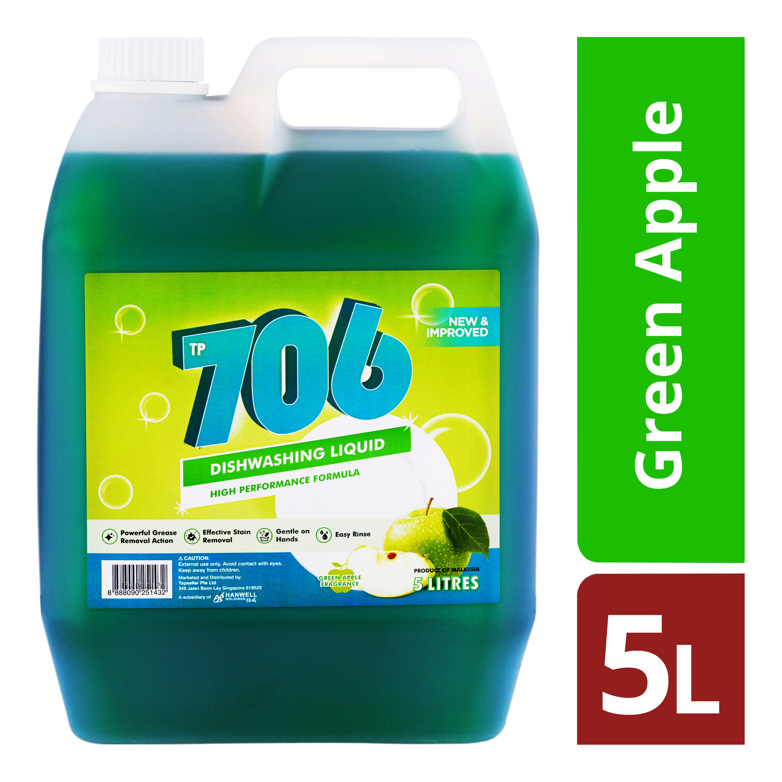 TP 706 Dishwashing Liquid - Green Apple