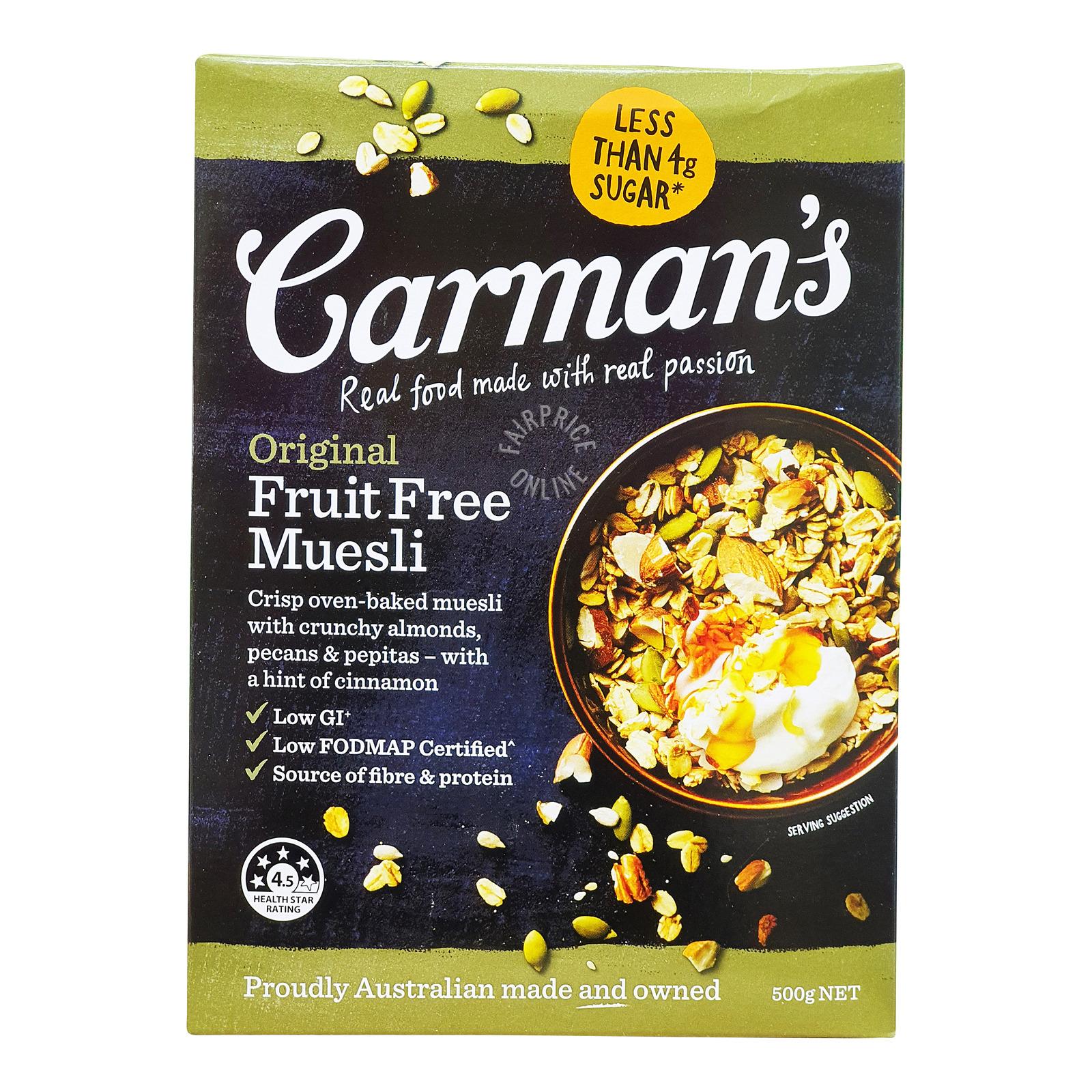 Carman's Muesli - Original (Fruit Free)