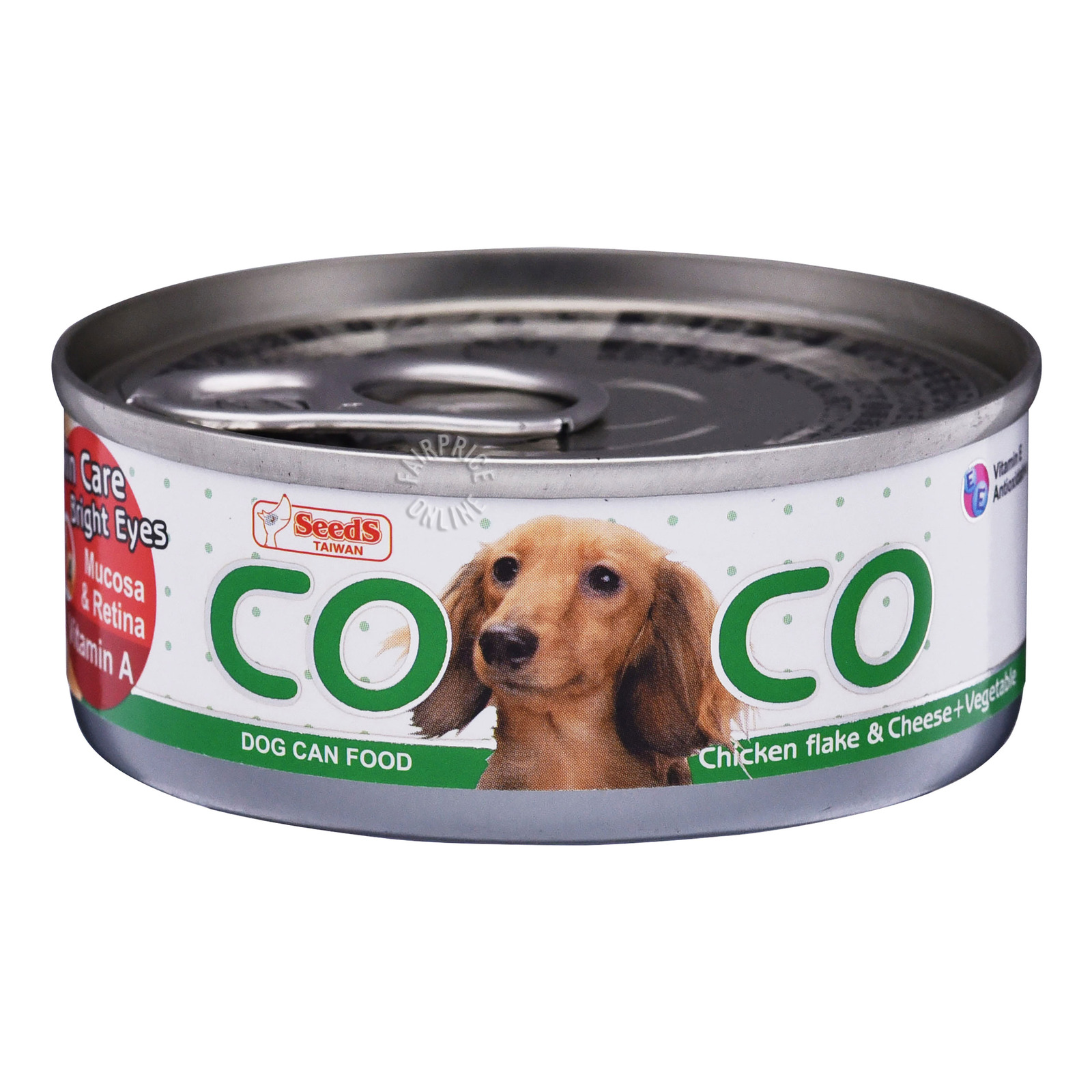 Coco Dog Can Food - Chicken Flake, Cheese & Vegetable