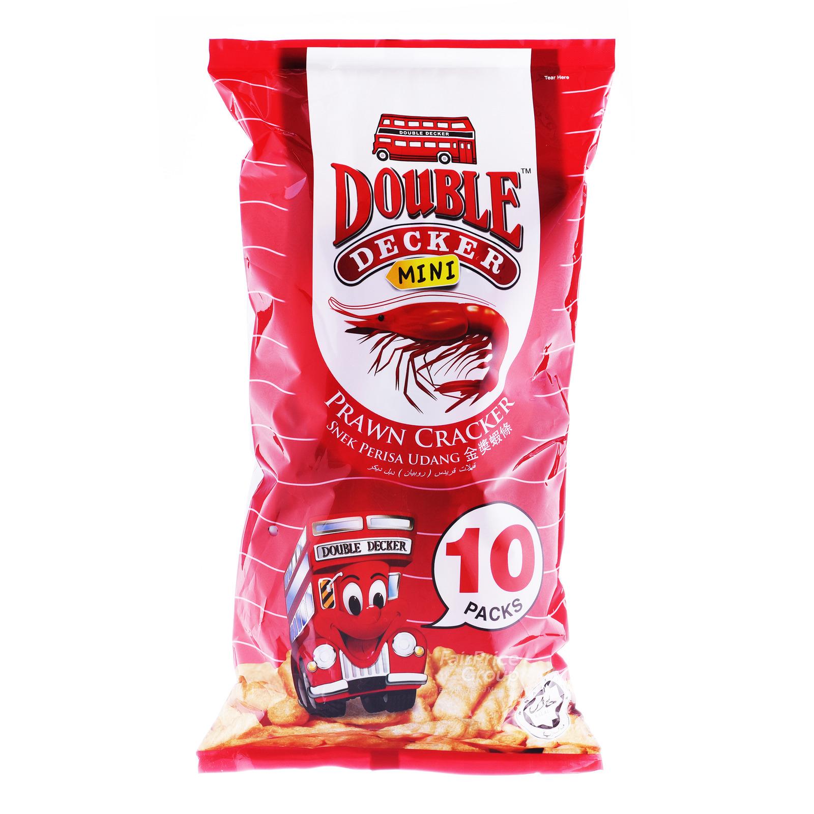 Double Decker Crackers - Prawn (Mini Packs)