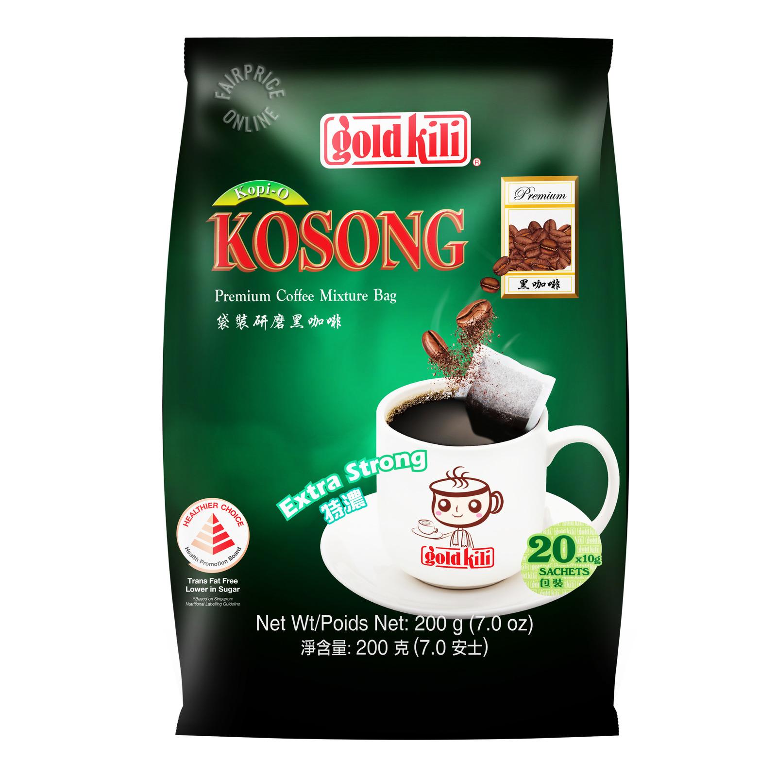 Gold Kili Kopi O Kosong - Extra Strong (No Cane Sugar Added)