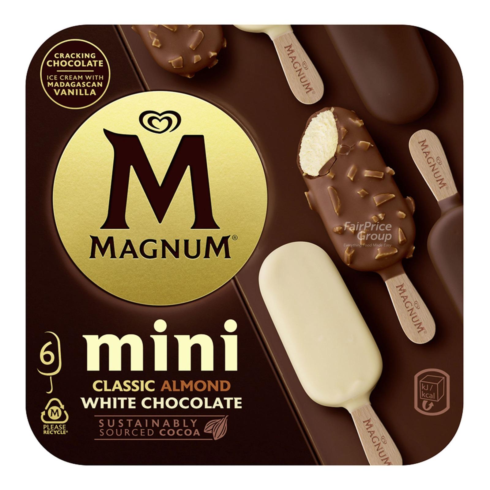Magnum Mini Ice Cream - Classic, Almond & White