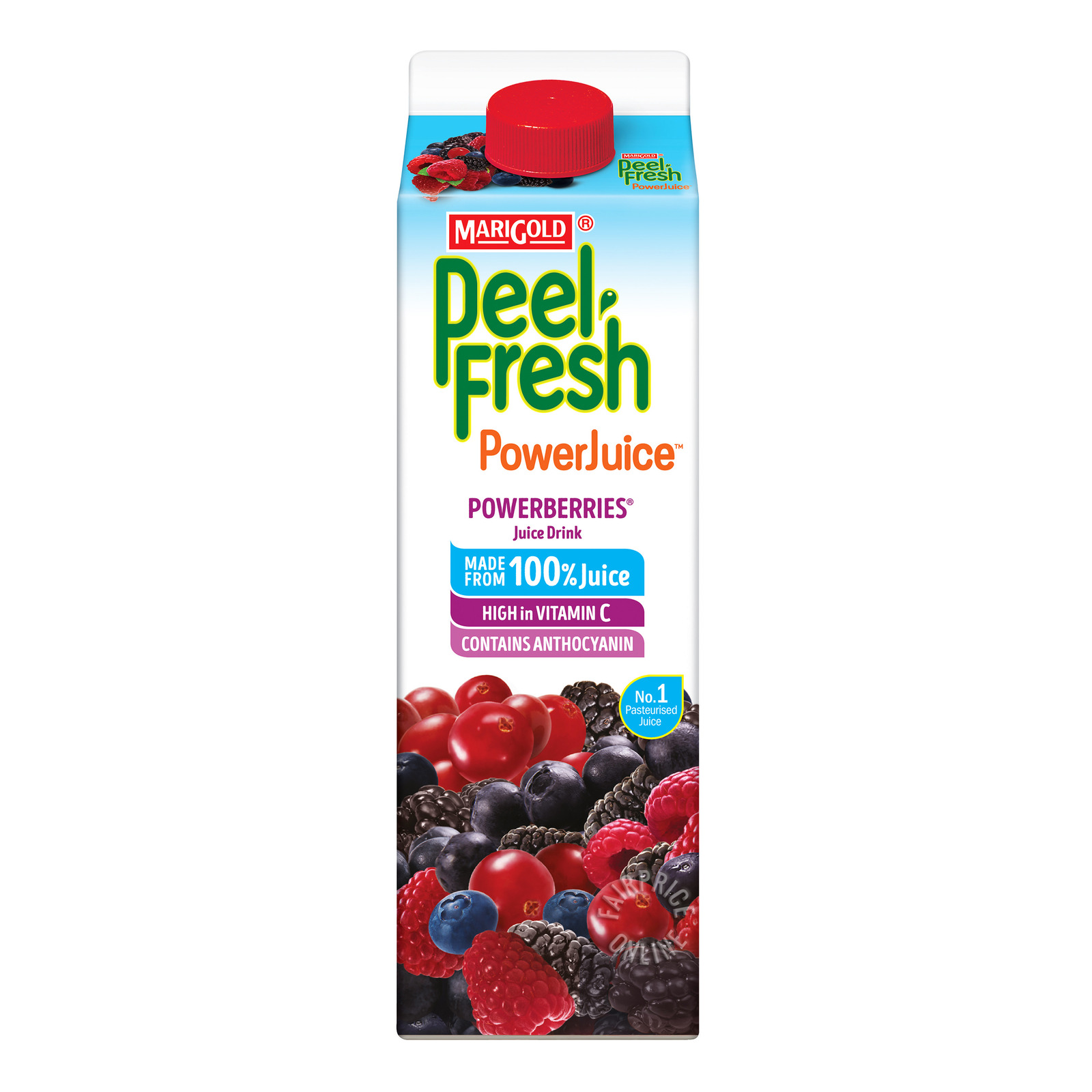 Marigold Peel Fresh Juice - Powerberries (No Sugar)