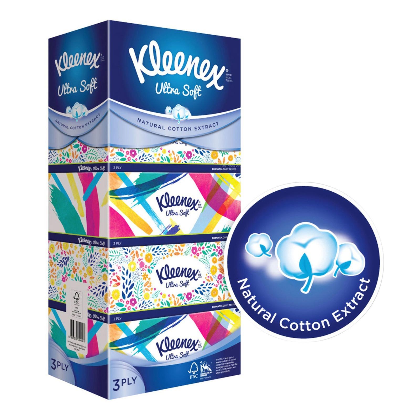 Kleenex Facial Tissue Box - Floral (3ply)