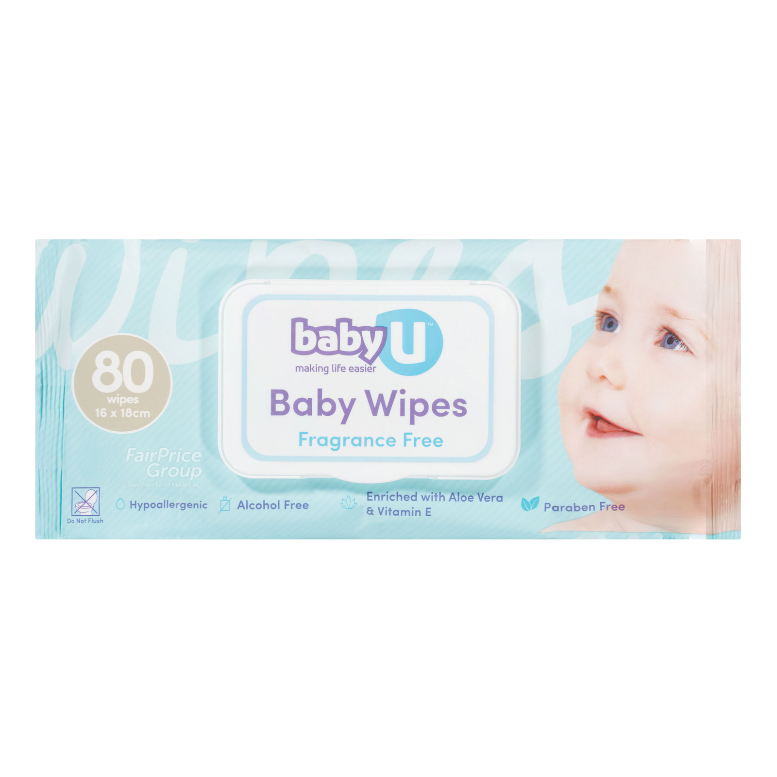 Baby U Baby Wet Wipes - Fragrance Free