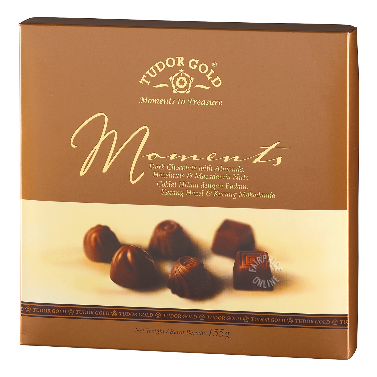 Tudor Gold Dark Chocolate with Almond, Hazelnuts & Macadamia