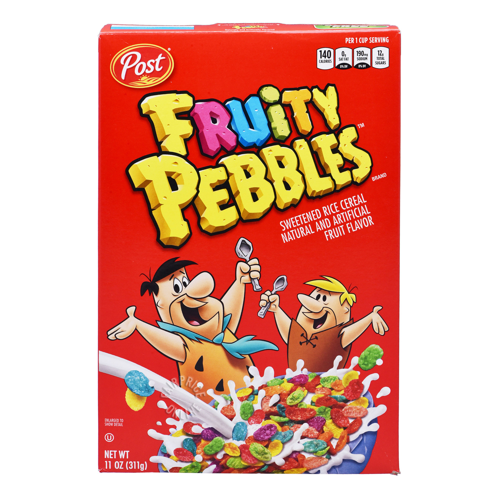 Post Sweetened Rice Cereal Fruity Pebbles