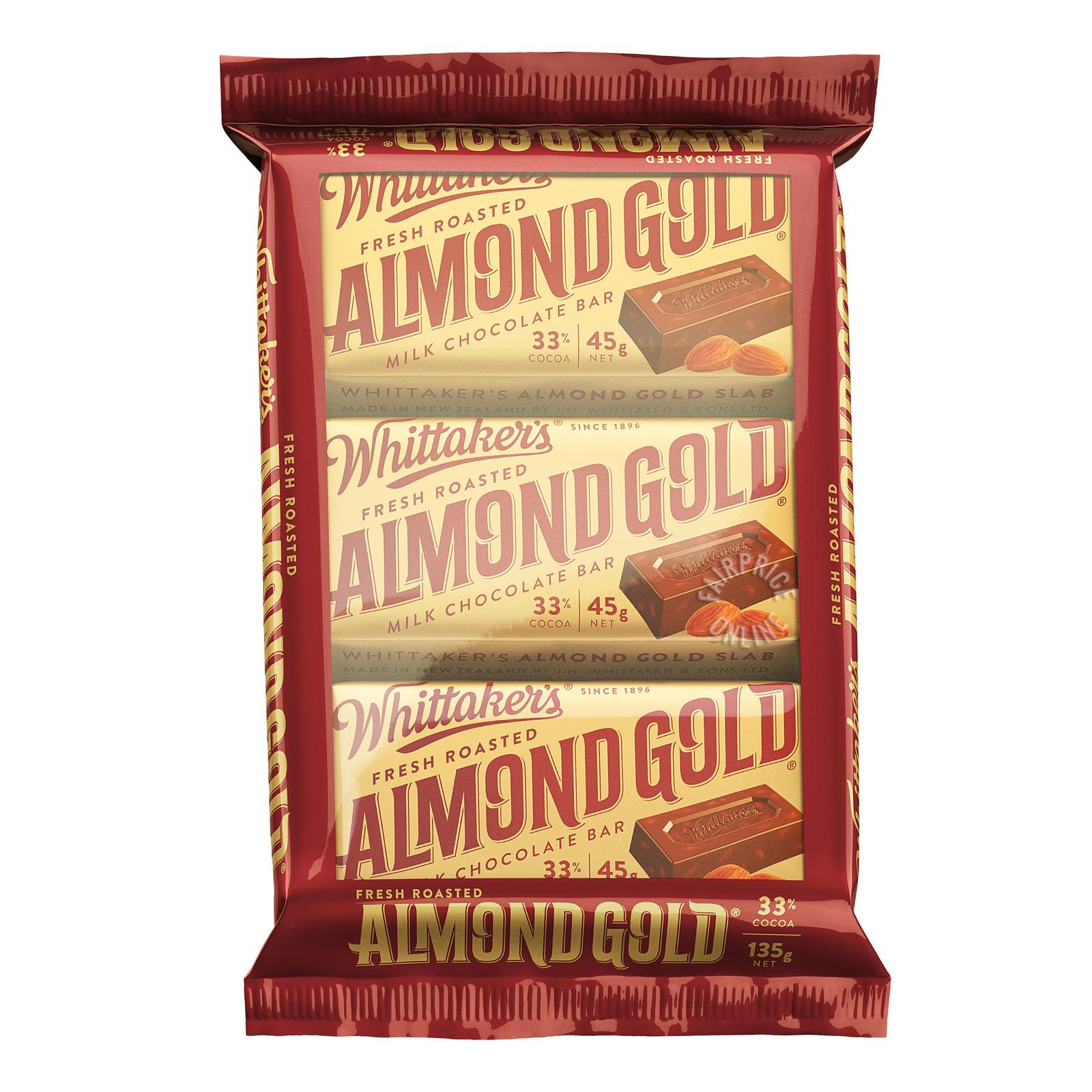 Whittaker's Milk Chocolate Bar - Almond Gold