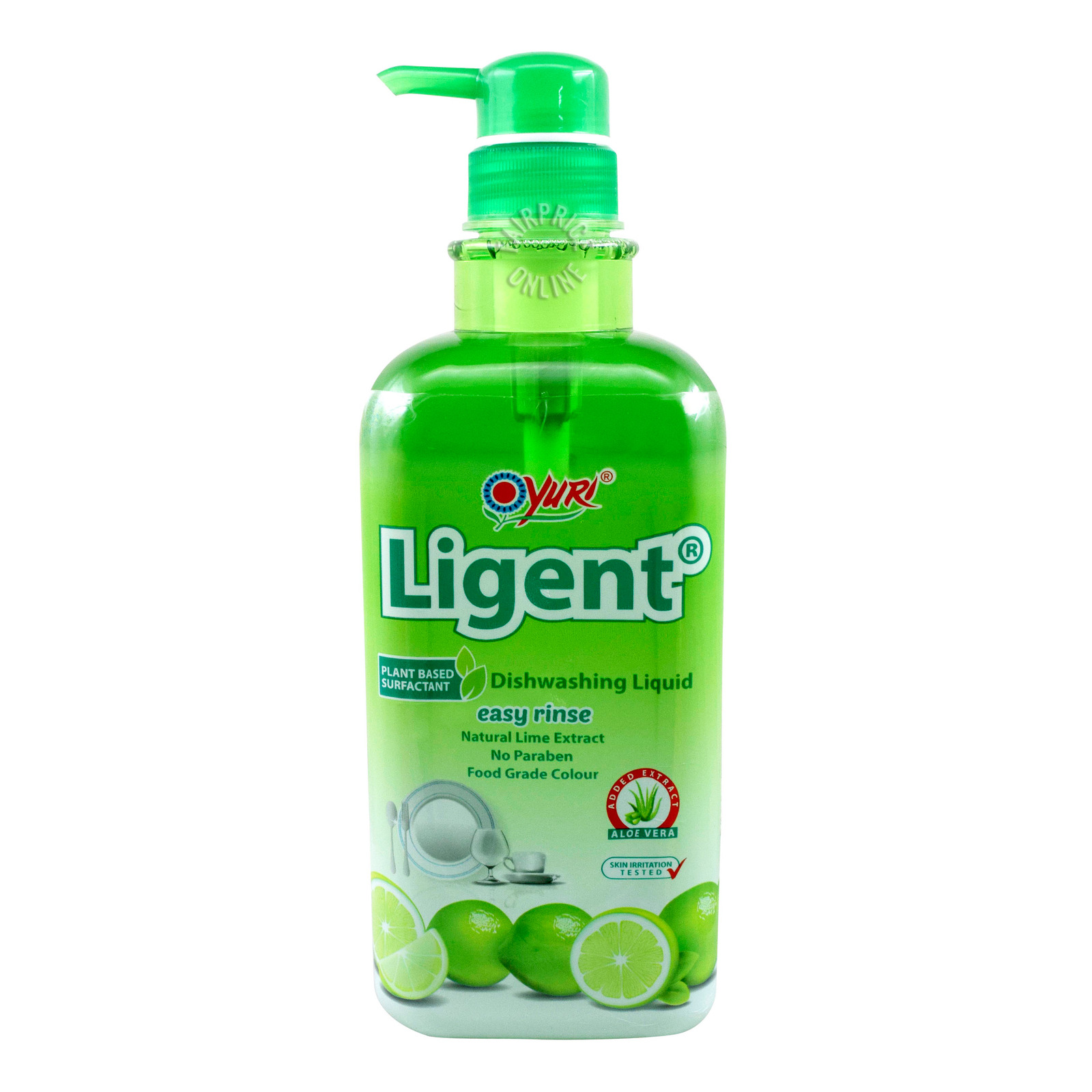 Yuri Ligent Dishwashing Detergent Pump - Lime