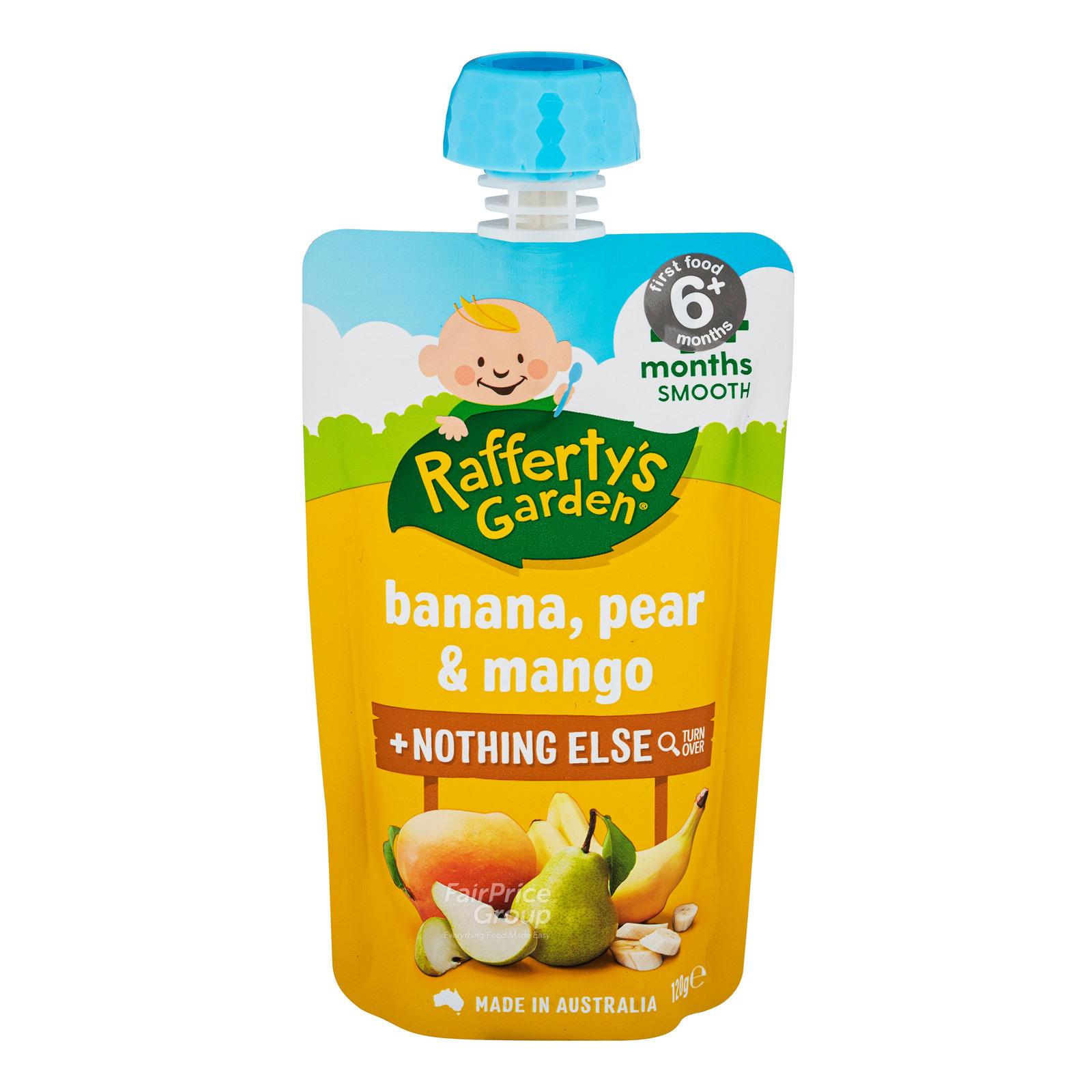 Rafferty's Garden Baby Food - Banana, Pear & Mango
