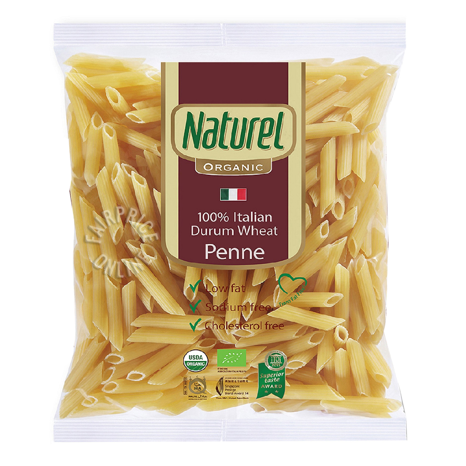 NATUREL Organic Durum Wheat Penne 500g