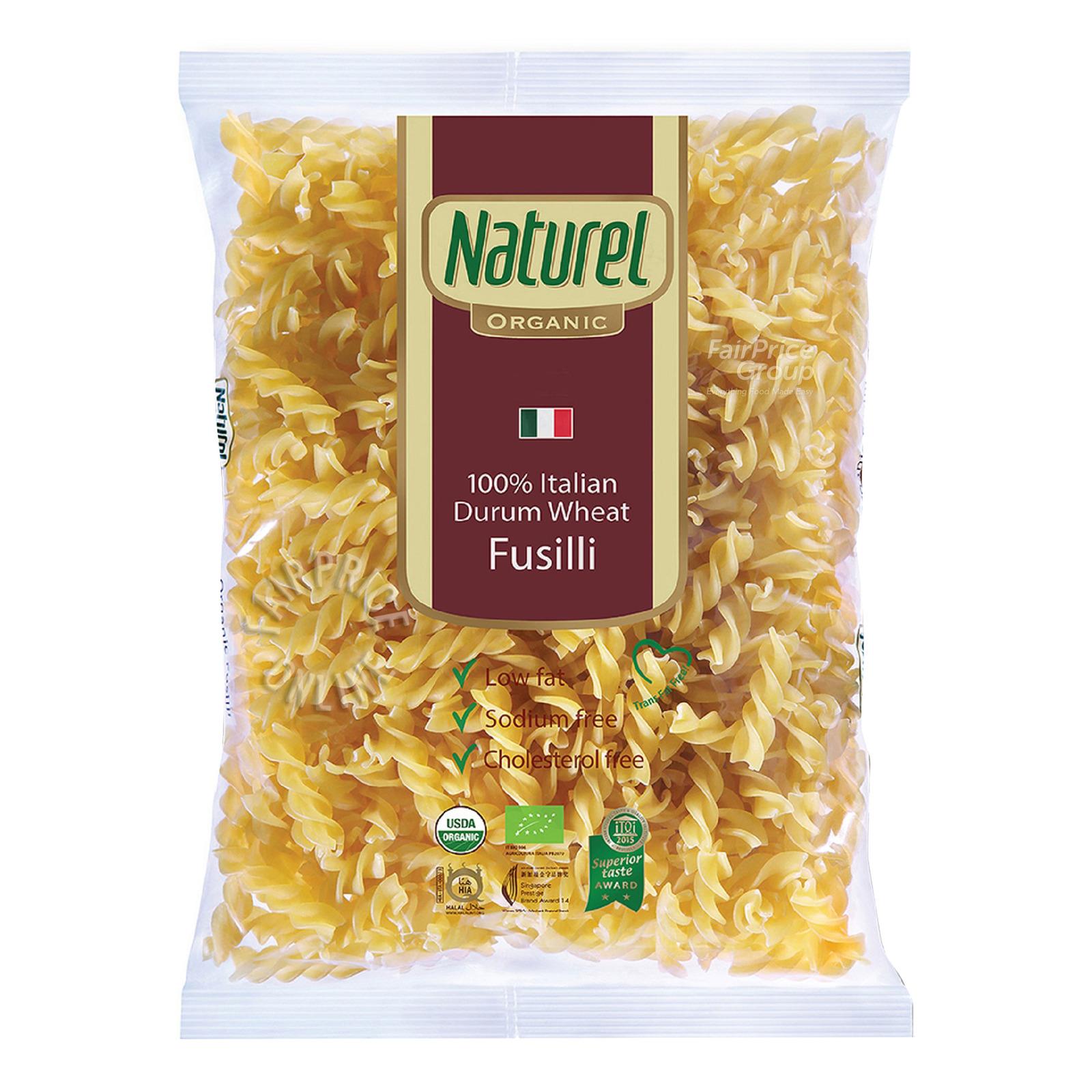 NATUREL Organic Durum Wheat Fusilli 500g