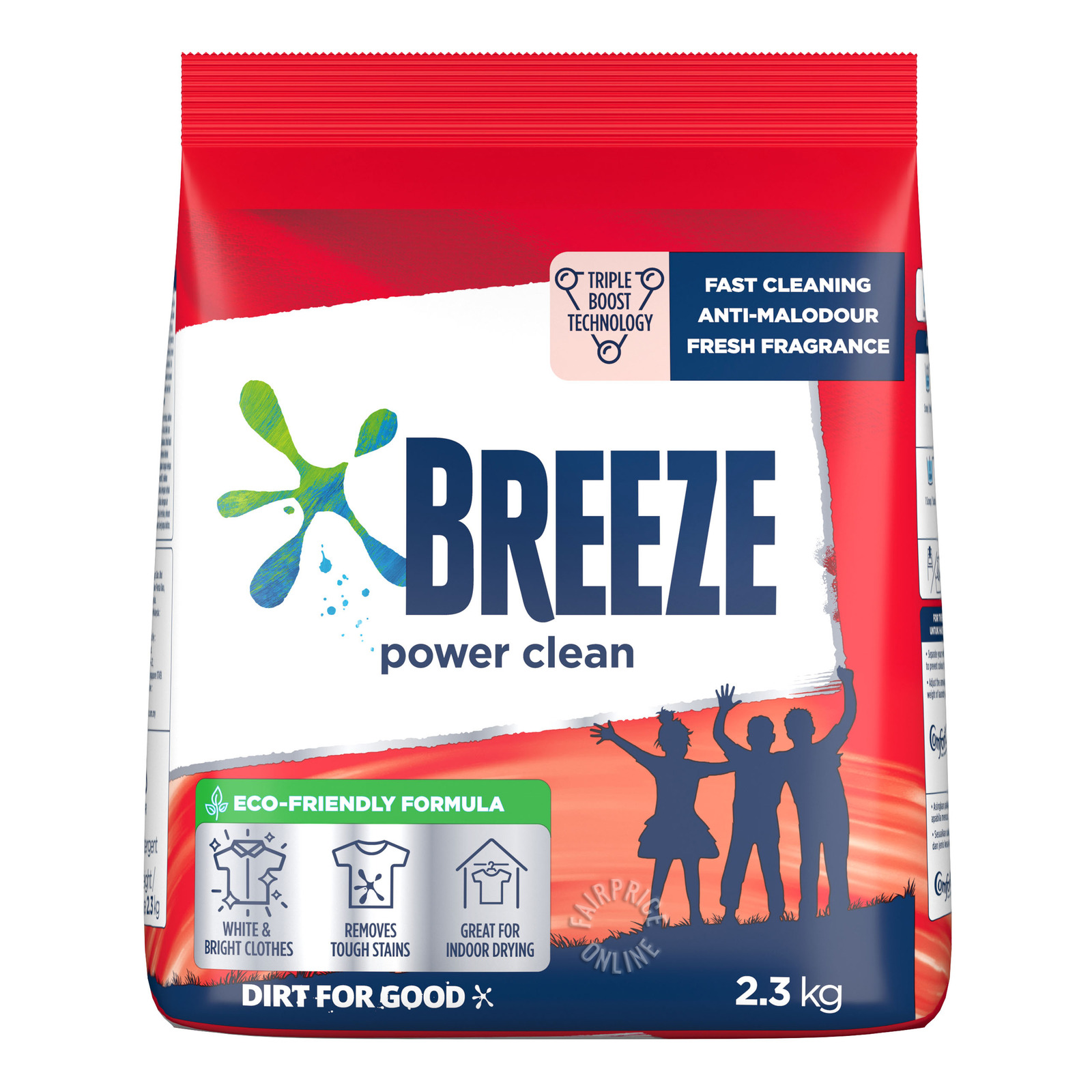 BREEZE Laundry Powder Detergent Power Clean 2.3kg