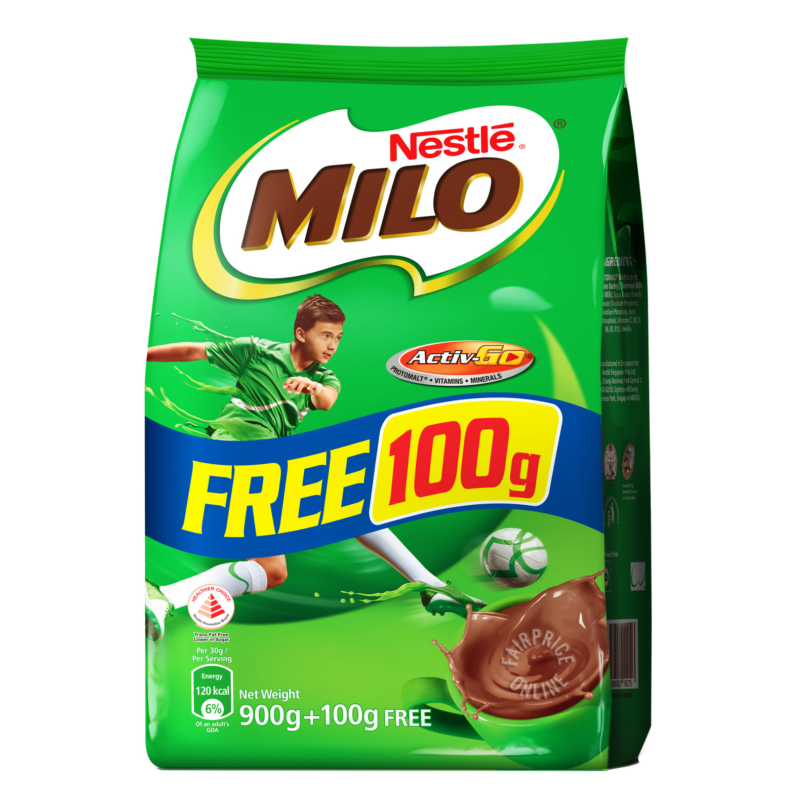 Milo Instant Chocolate Malt Powder Refill - Regular