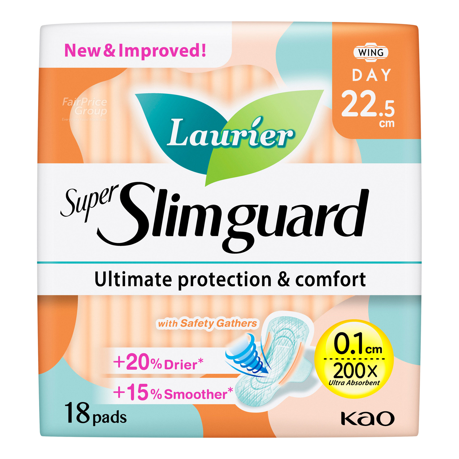 Laurier Super Slimguard Day Pads - Gather (22.5cm)