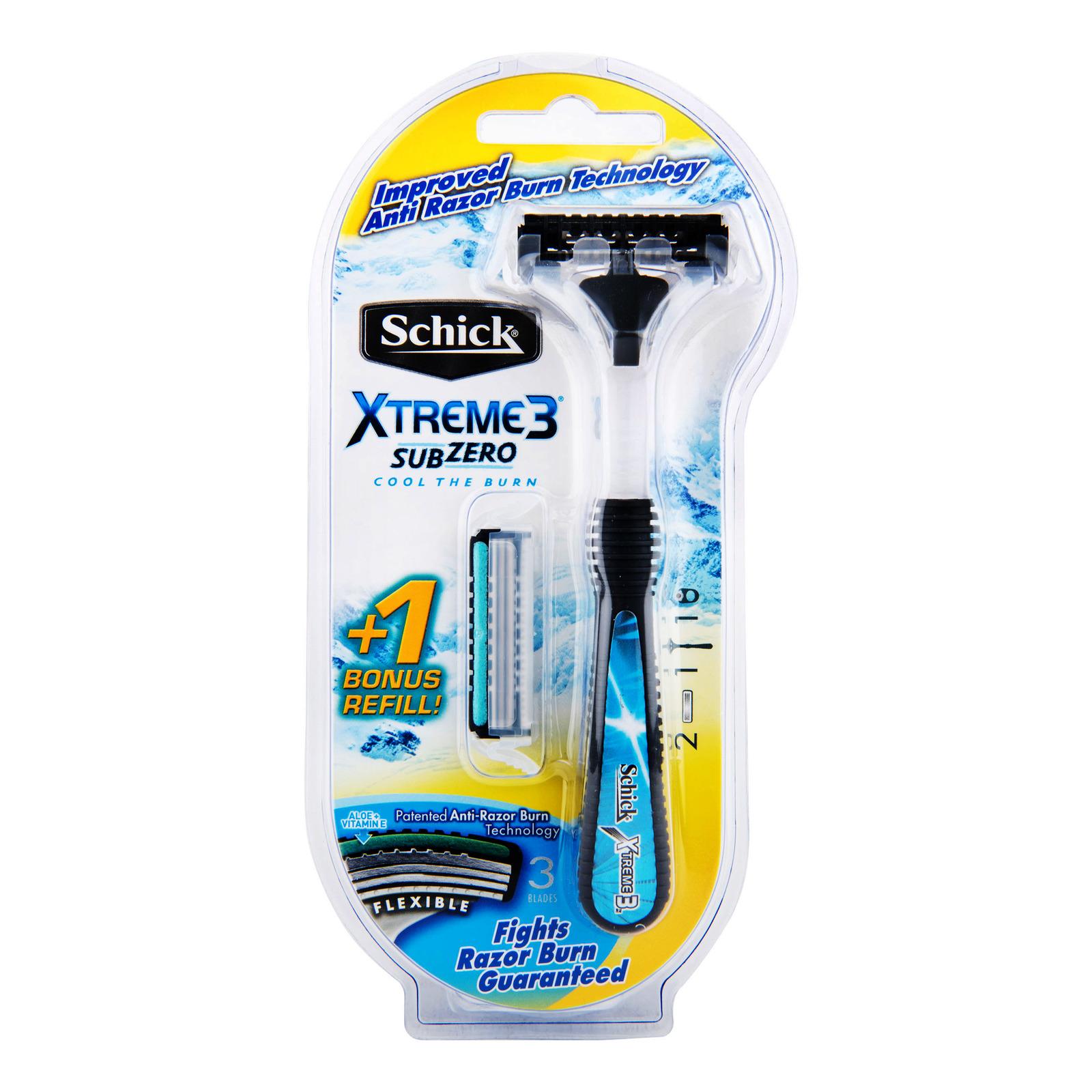Schick Razor with Cartridge Refill - Xtreme 3
