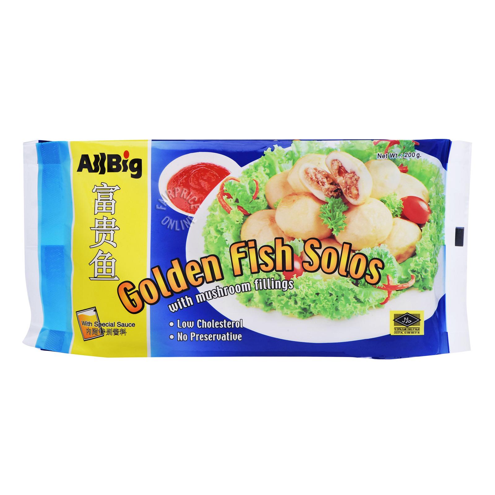 All Big Frozen Golden Fish Solos with Mushroom Fillings