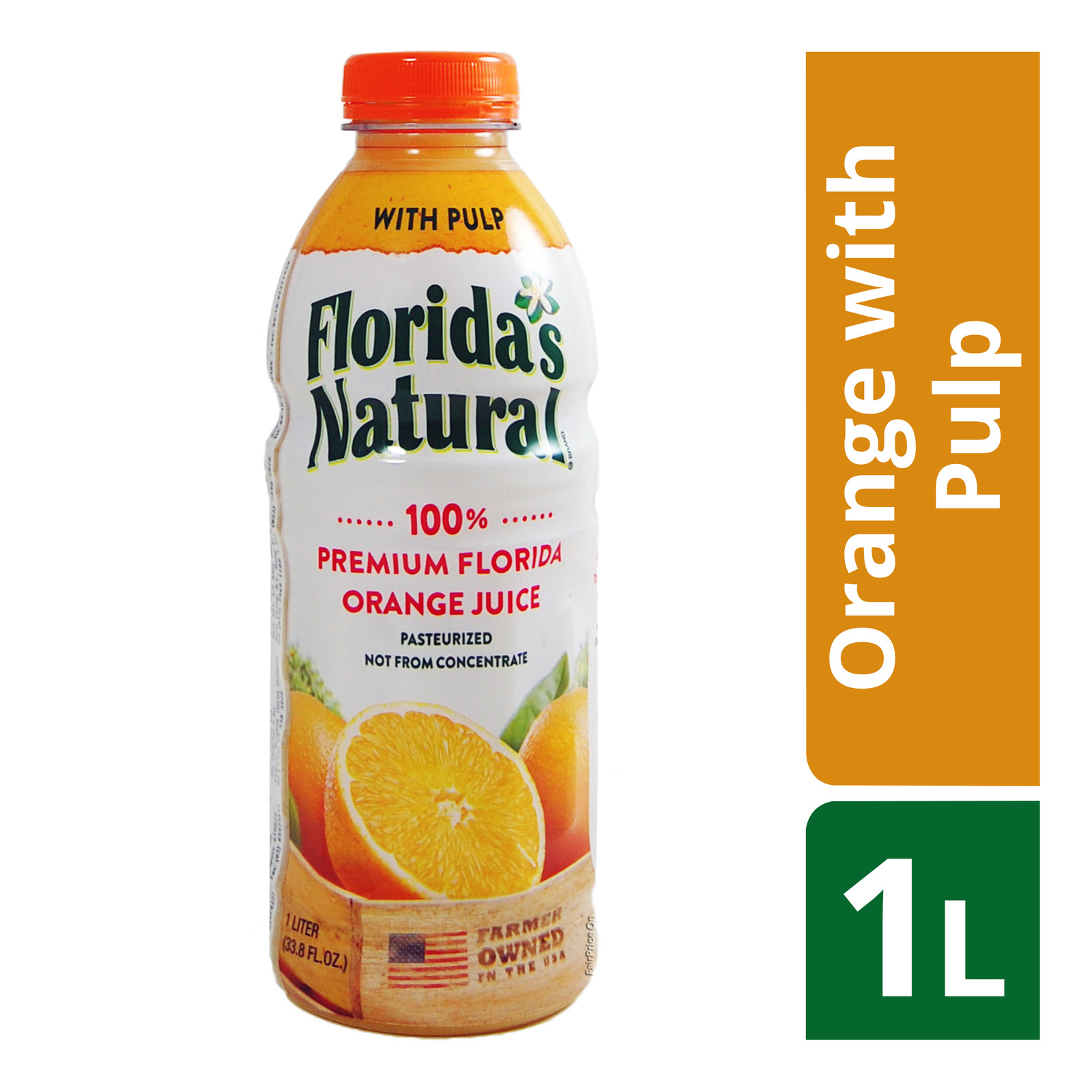 Florida's Natural 100% Fresh Bottle Juice - Orange with Pulp