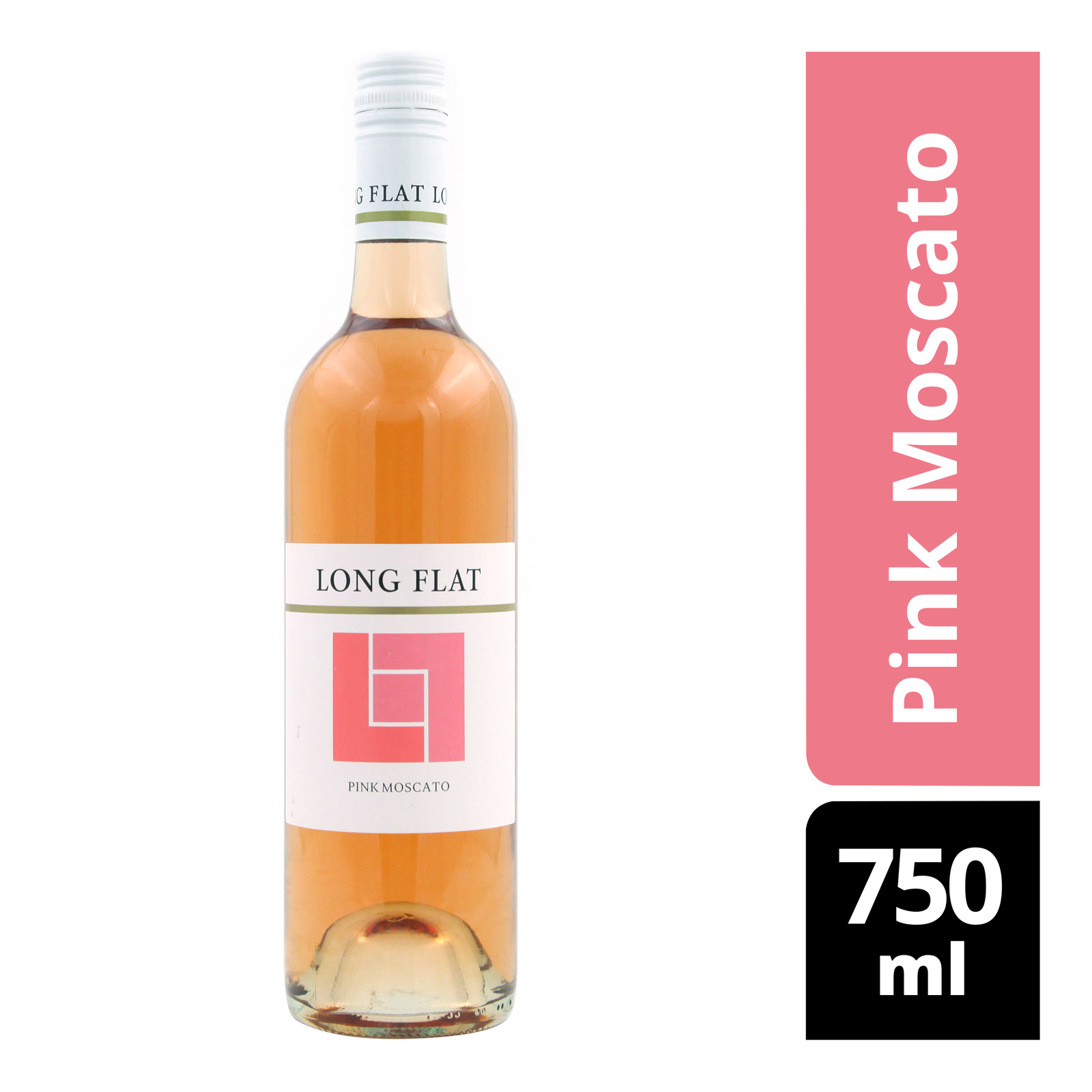 Long Flat White Wine - Pink Moscato