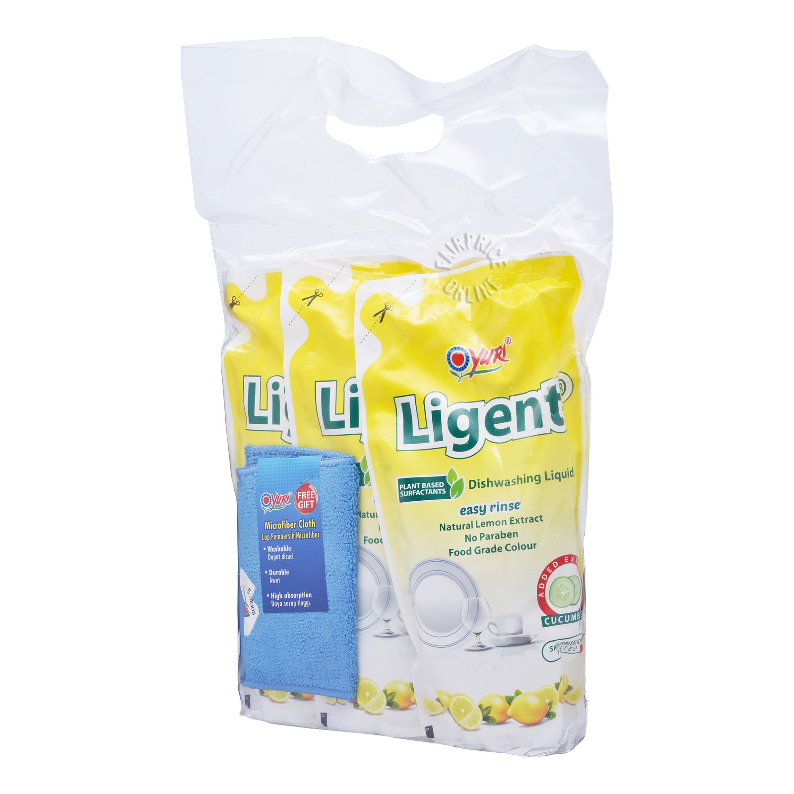 Yuri Ligent Dishwashing Detergent Refill - Lemon