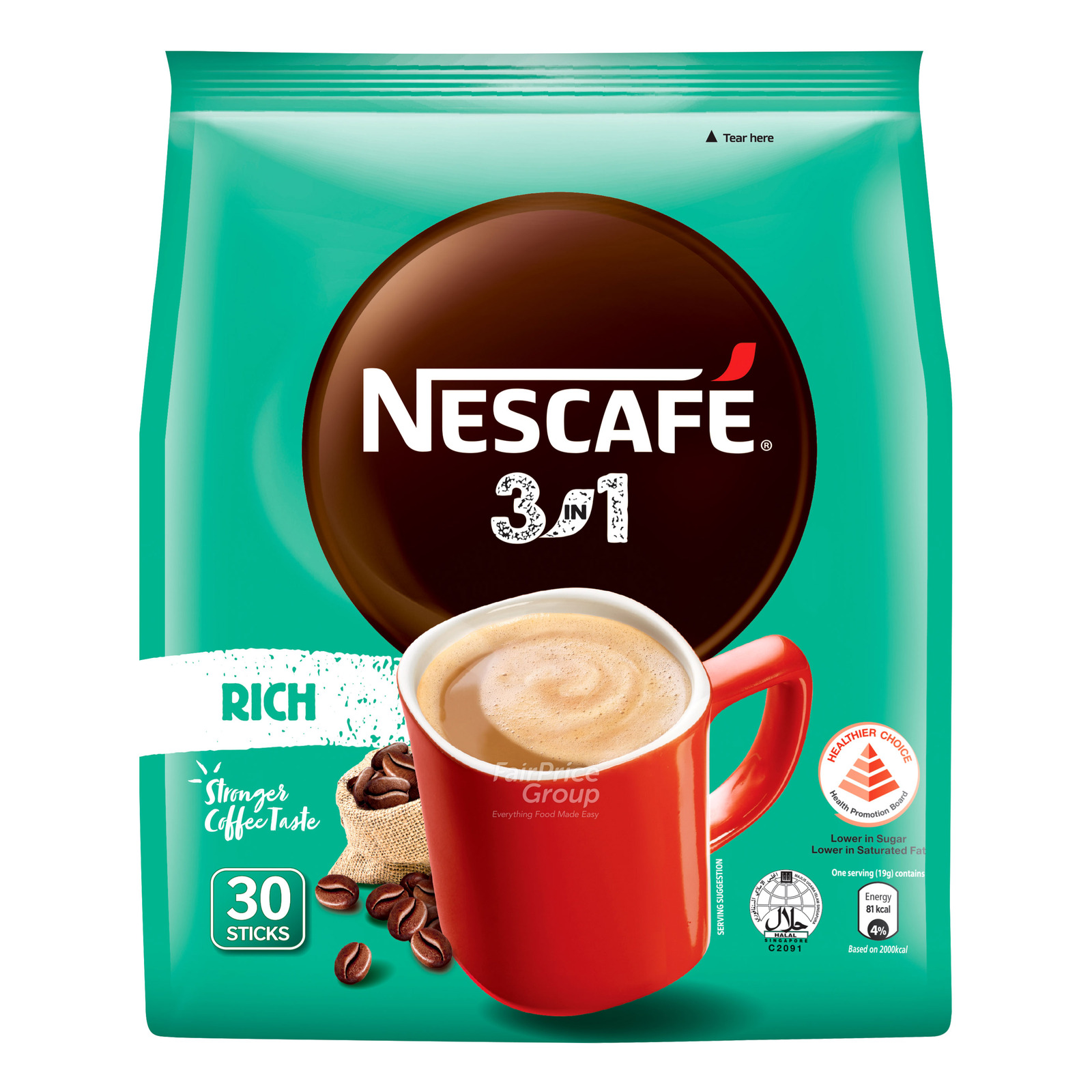 Nescafe 3 in 1 Instant Coffee - Blend & Brew (Rich)