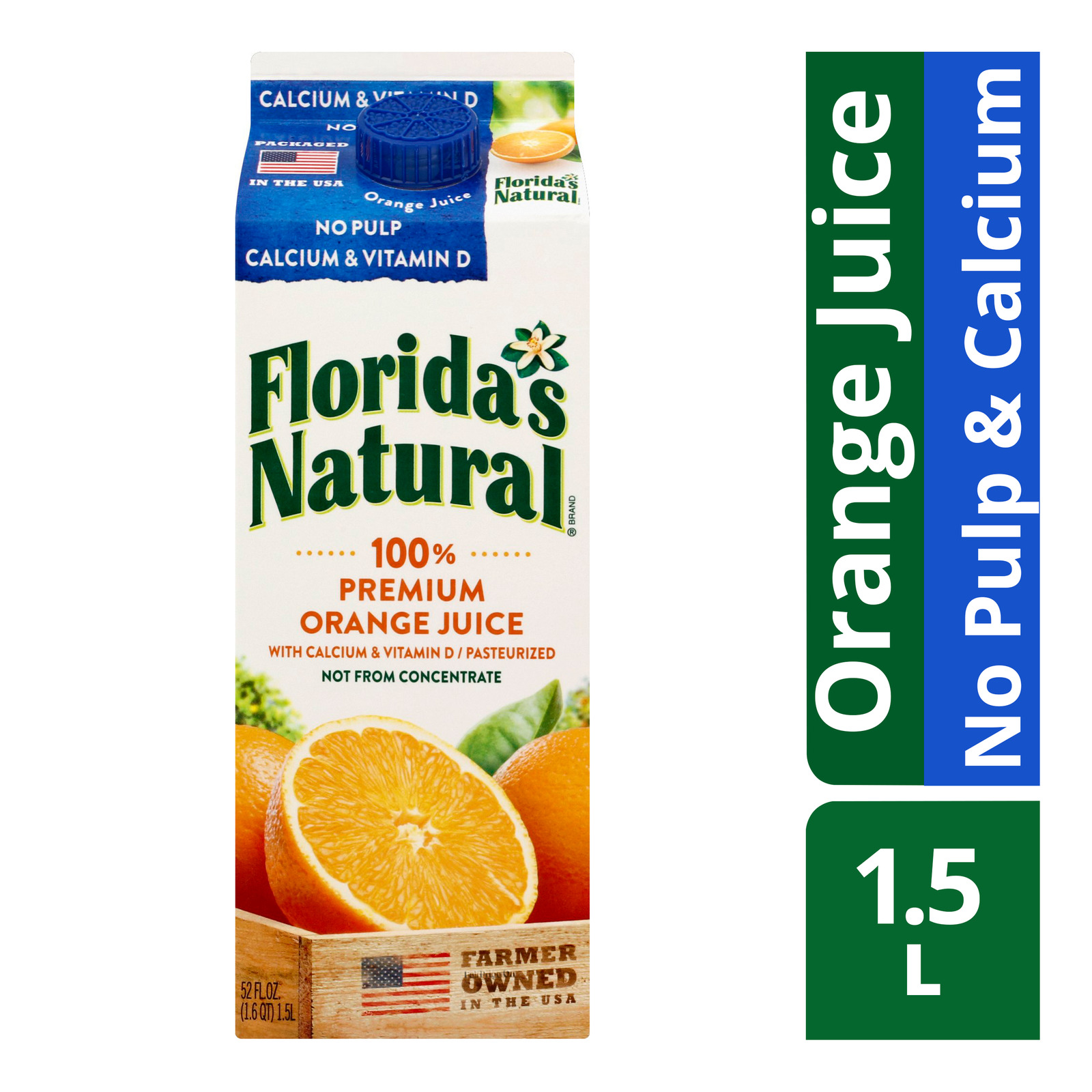 Florida's Natural 100% Orange Juice - No Pulp & Calcium