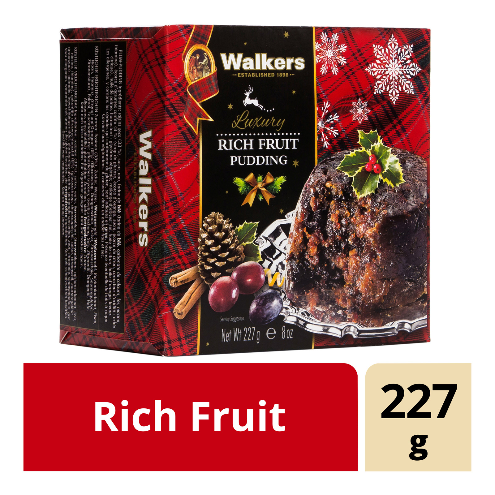 Walkers Pudding Cake - Rich Fruit