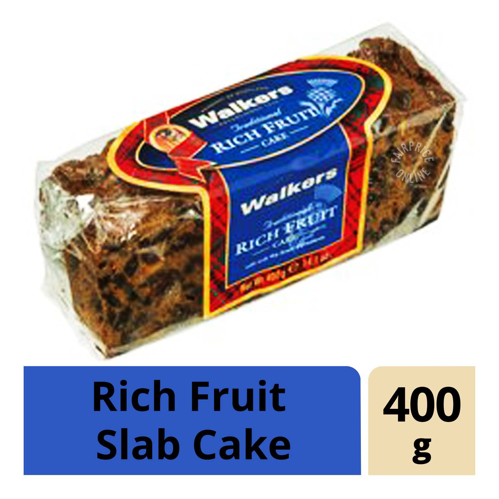Walkers Traditional Rich Fruit Slab Cake