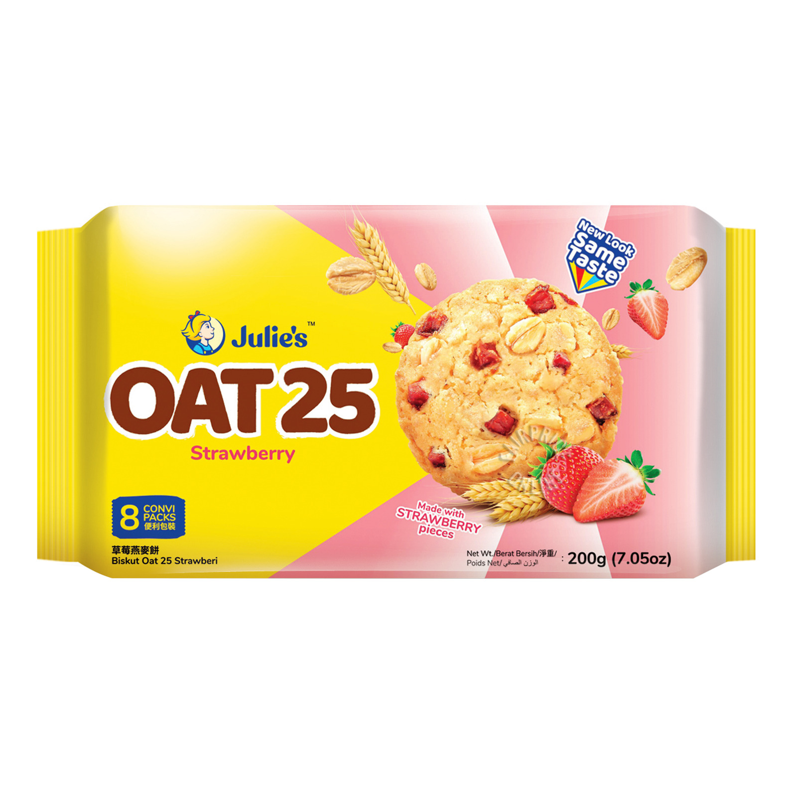 Julie's Oat 25 Biscuits With Real Strawberry Pieces