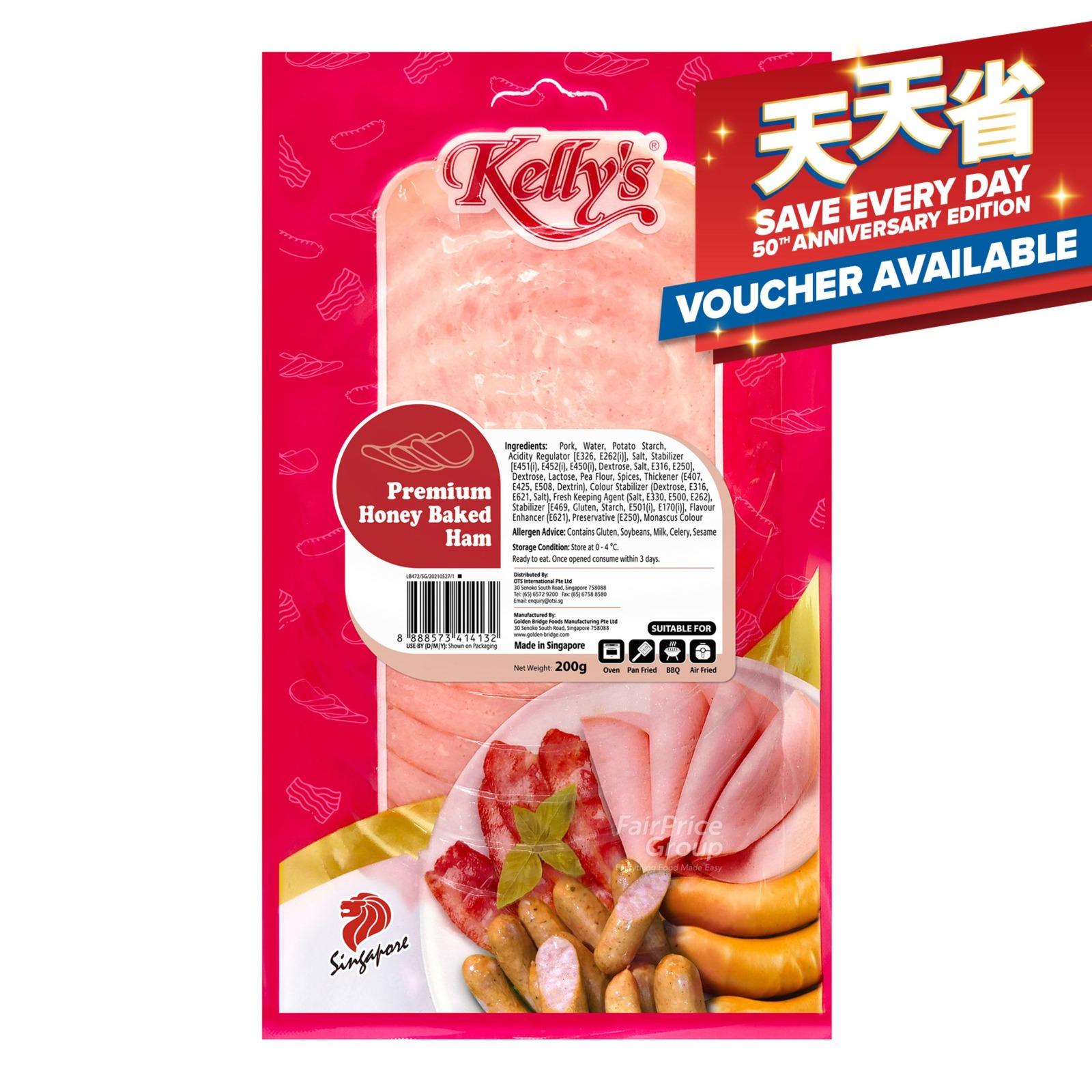 Kelly's Sliced Ham - Premium Honey Baked